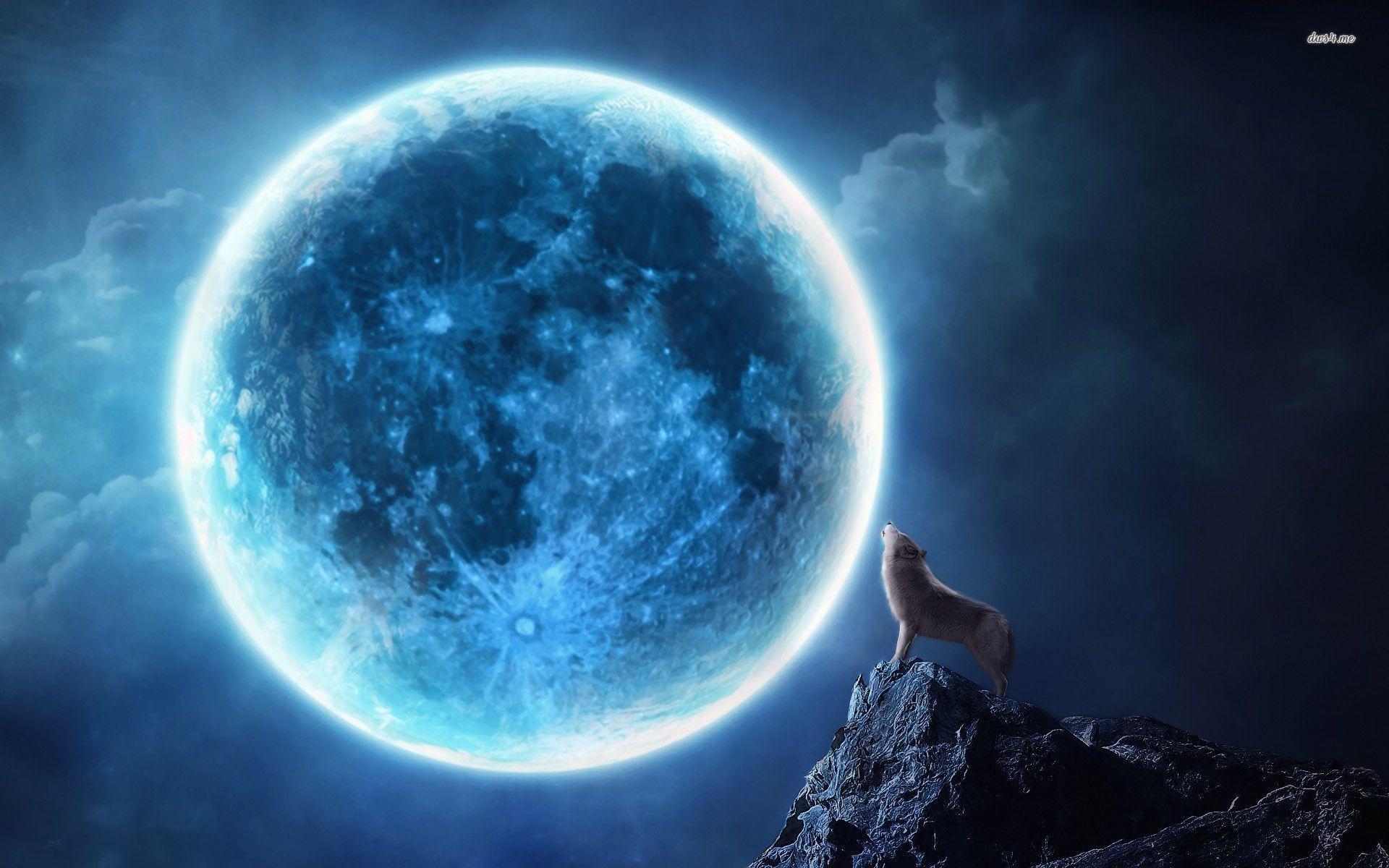 Blue Moon Wallpaper 1