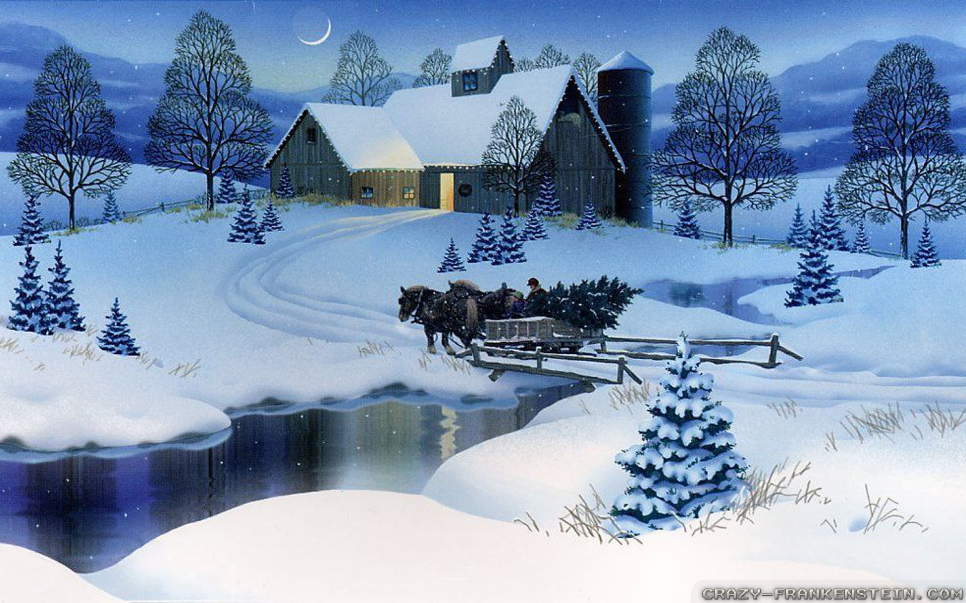 Winter Christmas Backgrounds: Wallpaper Christmas Scenes ·① WallpaperTag