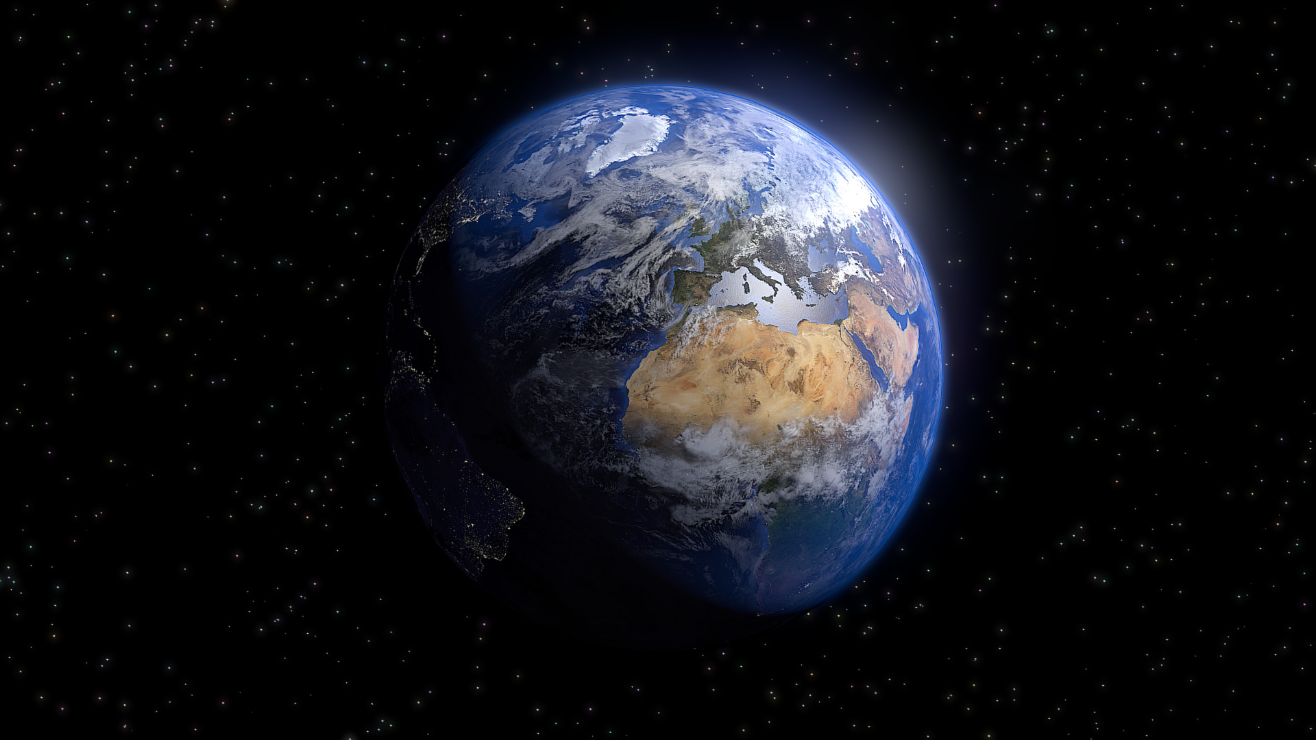 planets surrounding earth - HD1920×1080