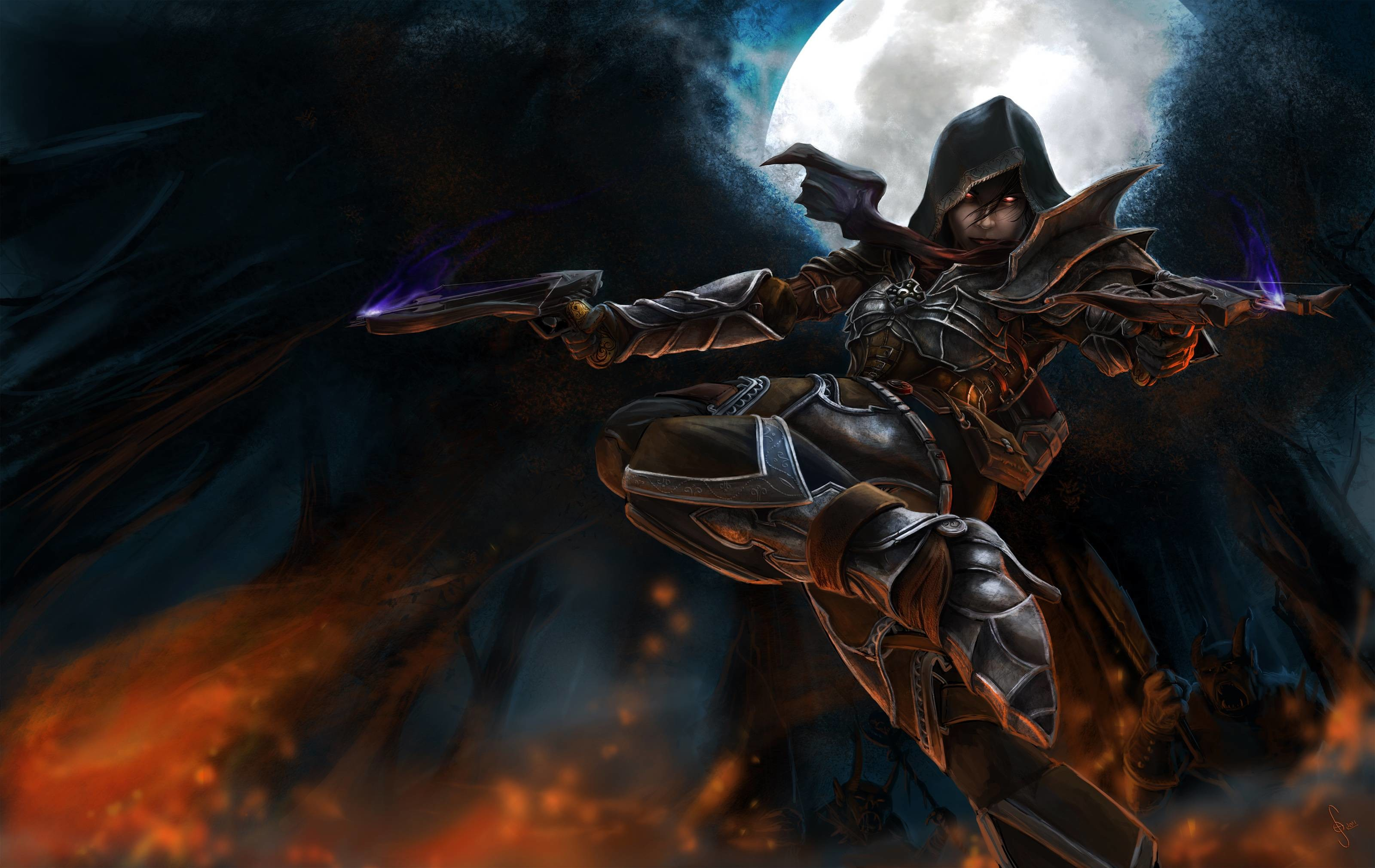 Demon Hunter Wallpaper Wallpapertag
