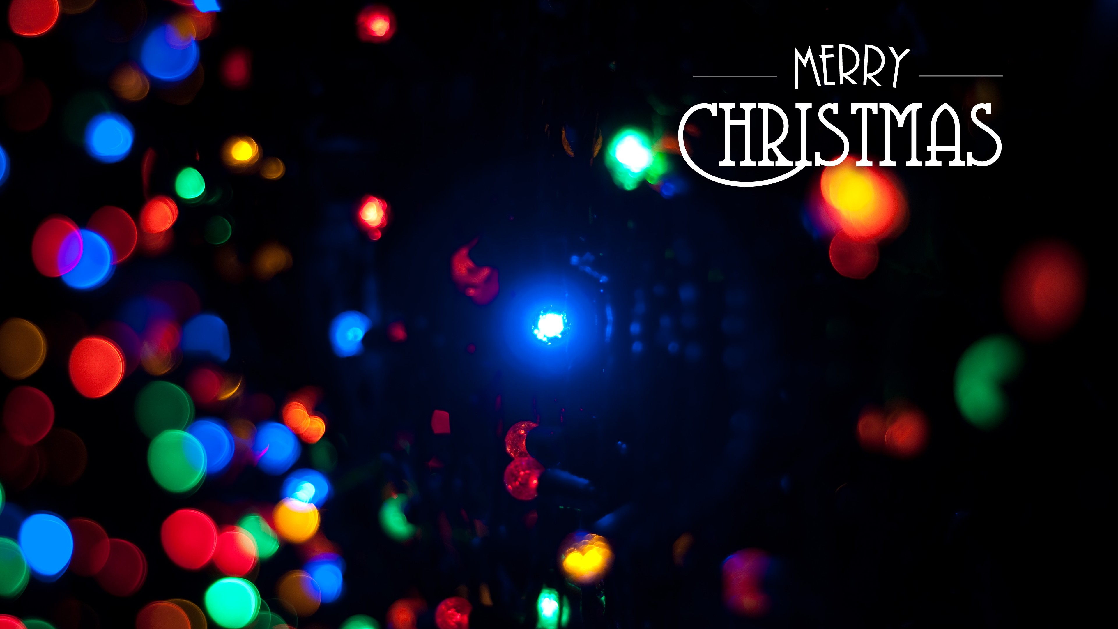 3840x2160 Christmas Lights Background For Iphone 7 Download Free