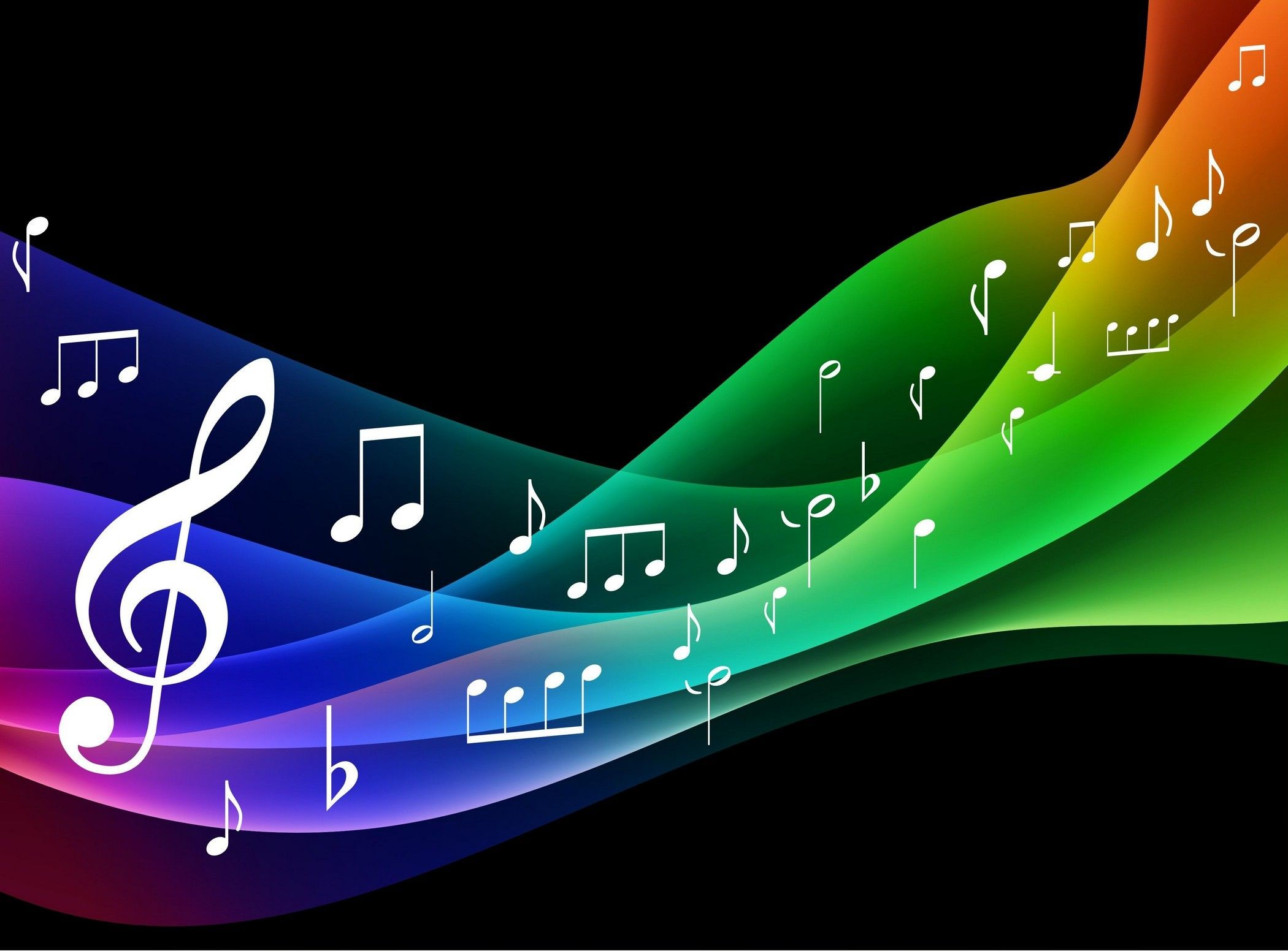 Rainbow Music Notes Background Hd Wallpaper Background Images: Musical Background ·① Download Free Beautiful Backgrounds