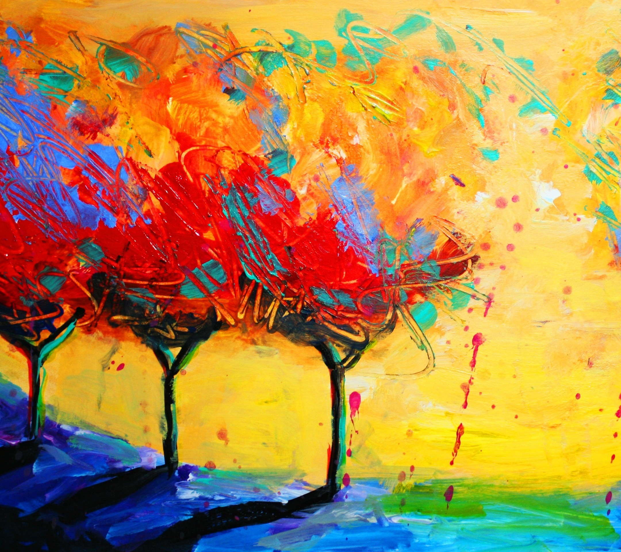 Painting: Abstract Painting Wallpaper ·①