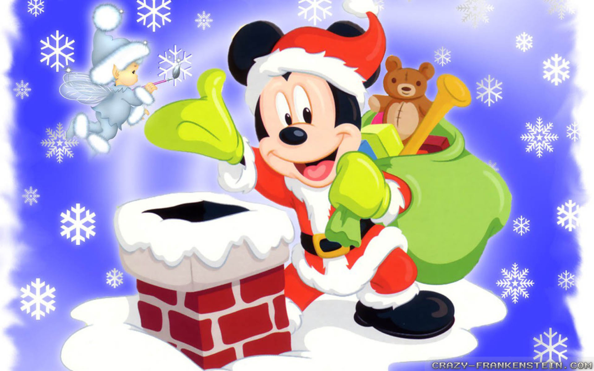 Mickey Mouse Christmas Backgrounds Wallpapertag
