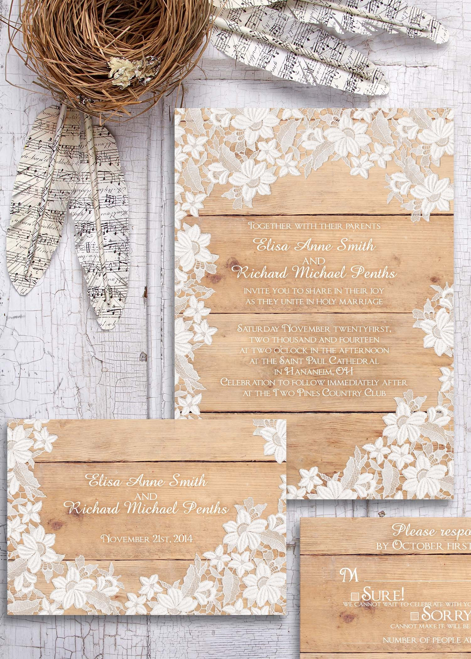Rustic With Lace Wallpaper