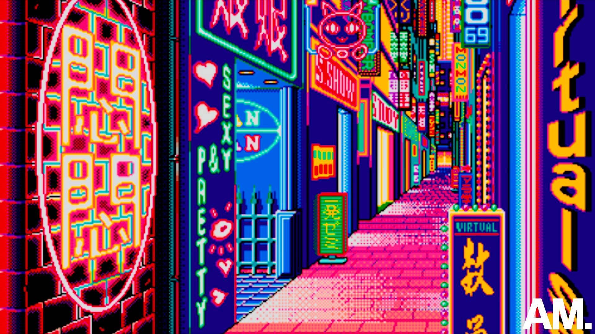Xiaomi Laptop Wallpaper: Vaporwave Background ·① Download Free Stunning High