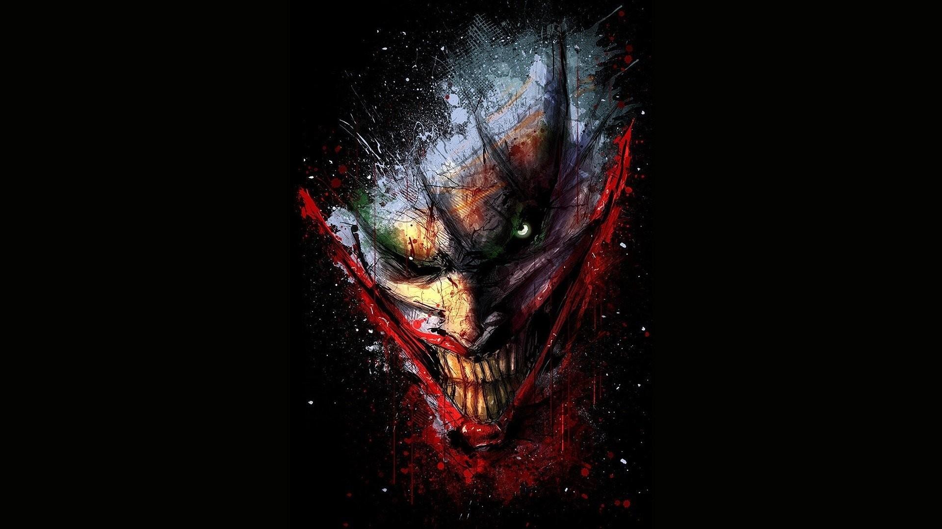 Scary Joker Wallpaper 1