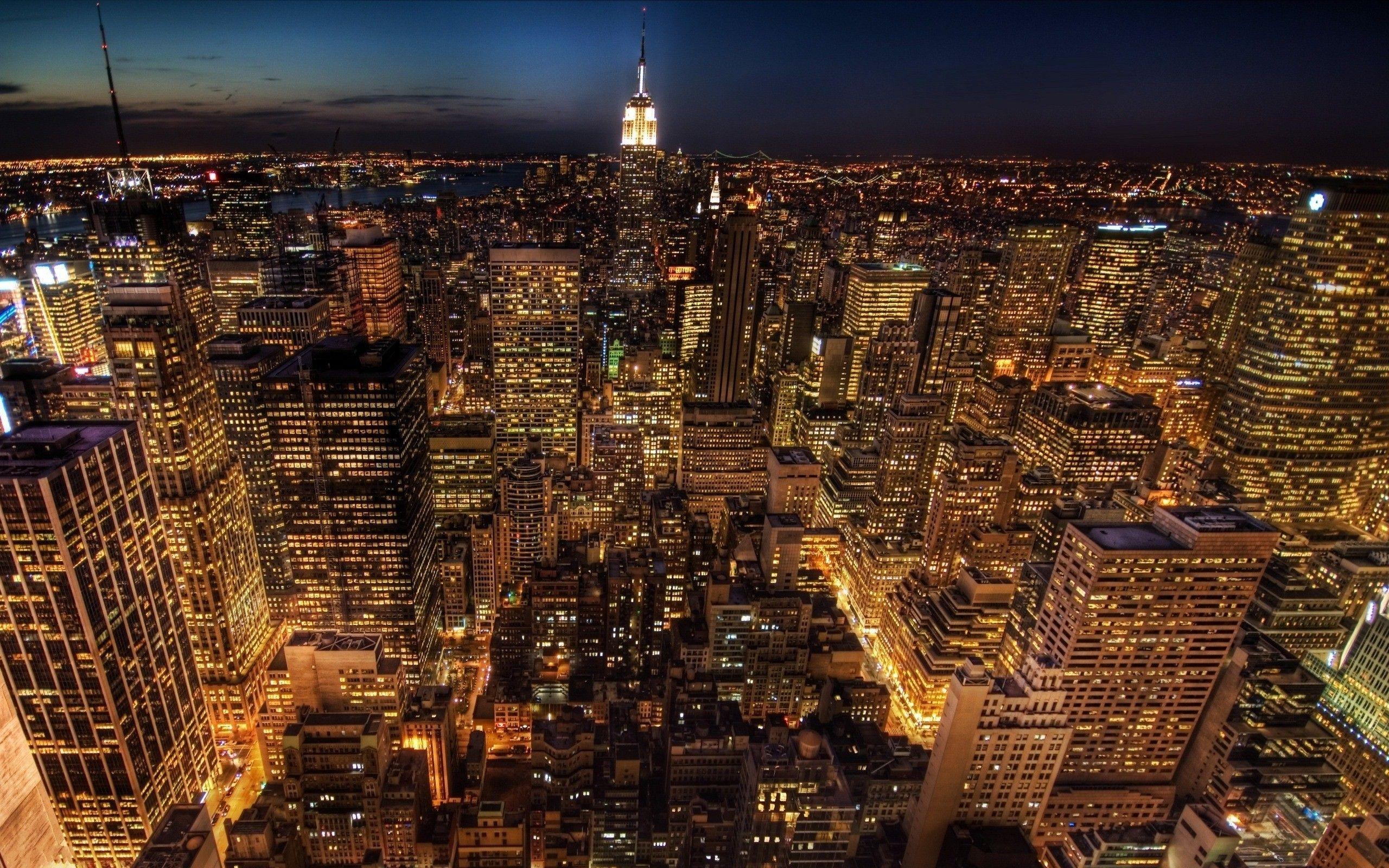 NYC at Night Wallpaper ·①