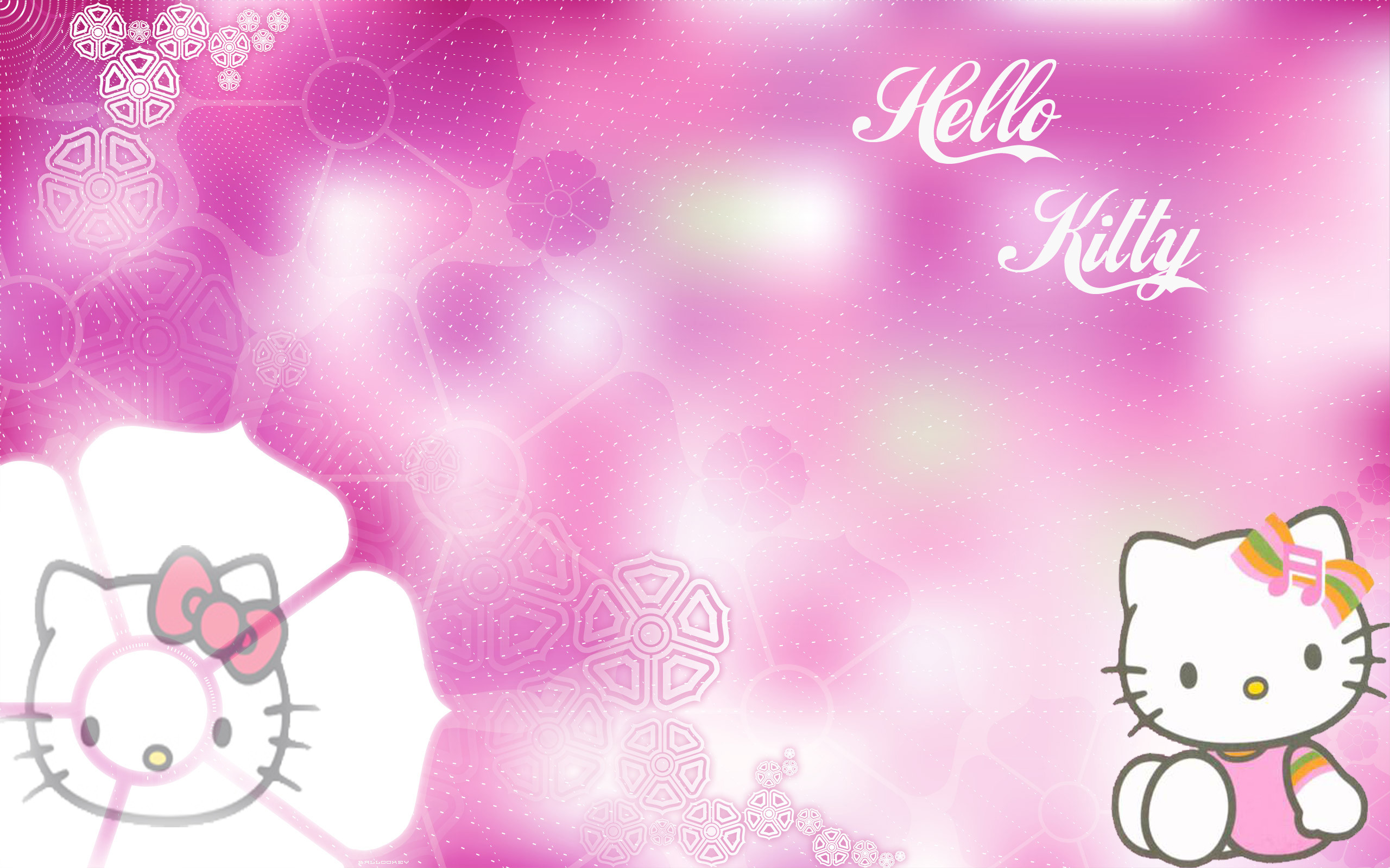 Pink Hello Kitty Background ·â'