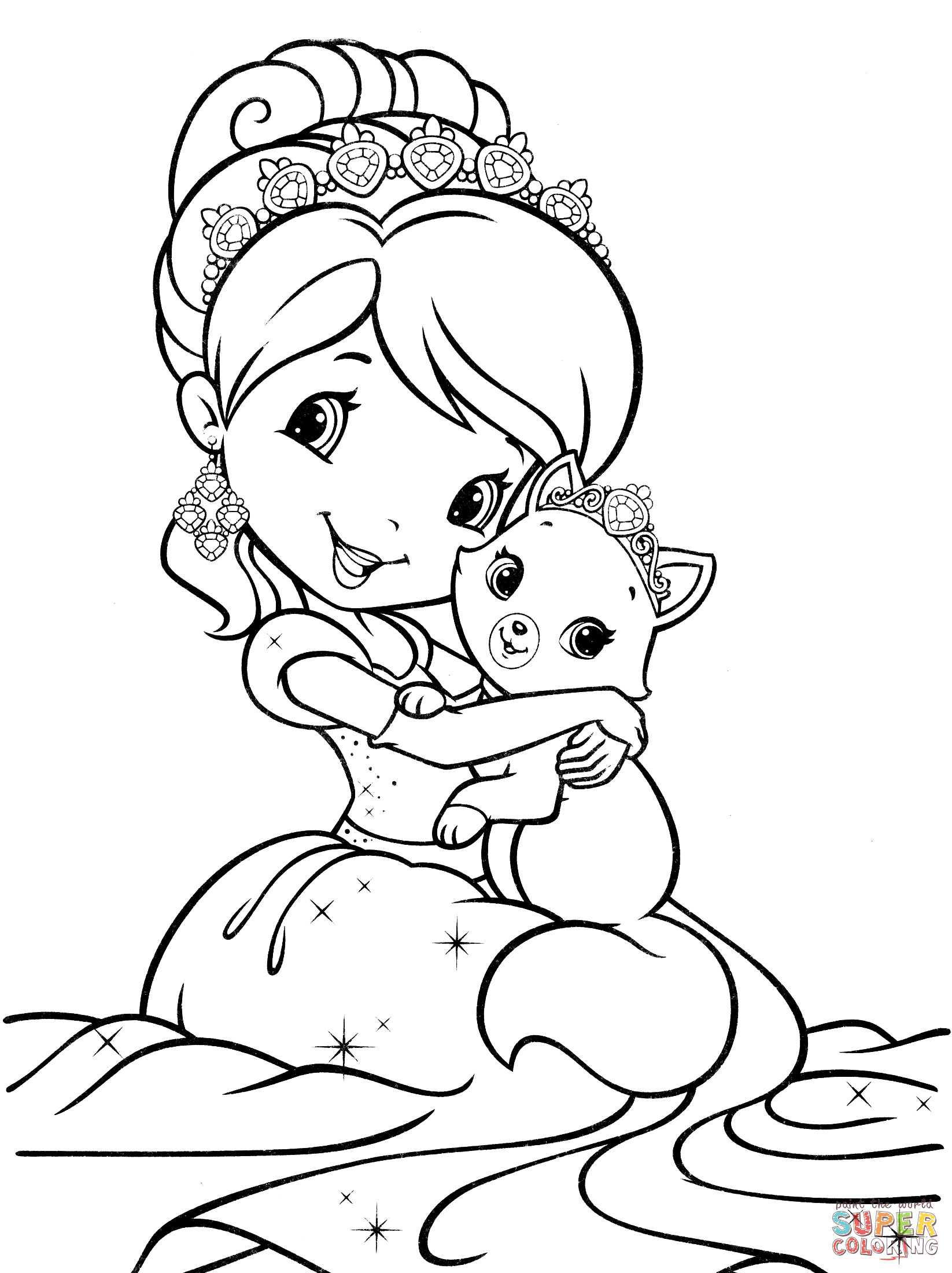 strawberry shortcake coloring pages free - photo#9