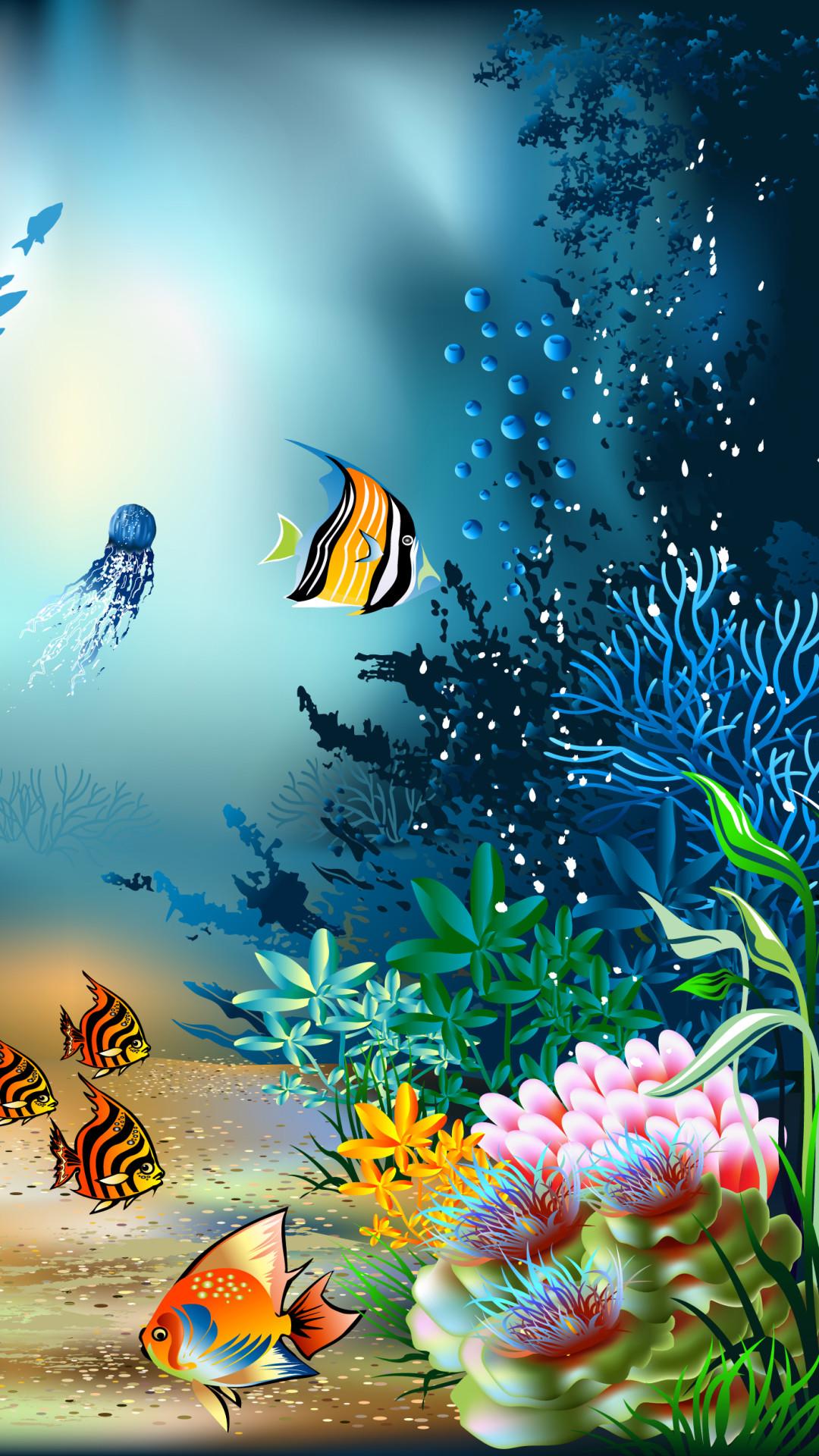 выложили движущаяся картинка с рыбками на телефон ненесеня вафельної картинки