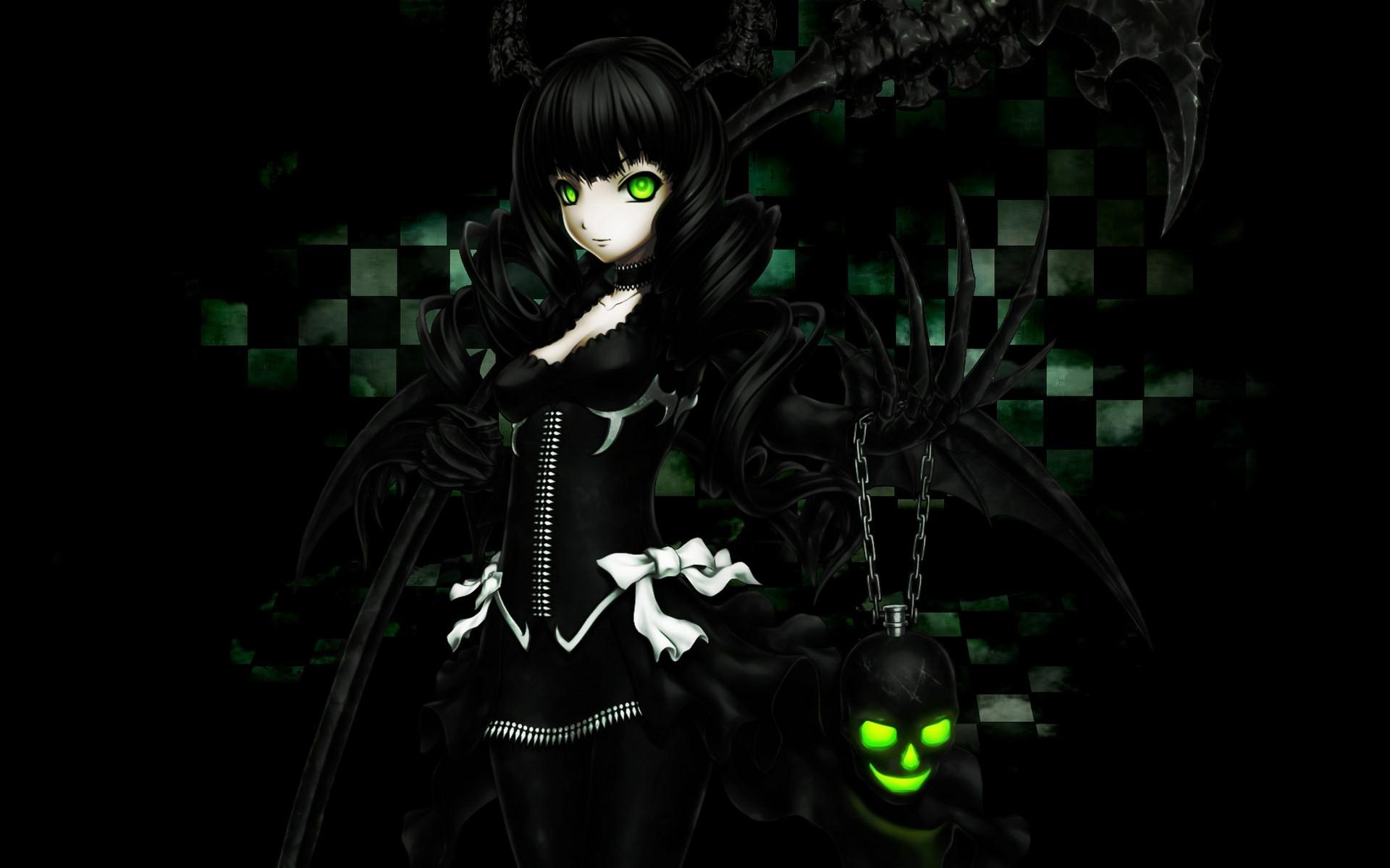 1920x1200 dark anime girl wallpaper