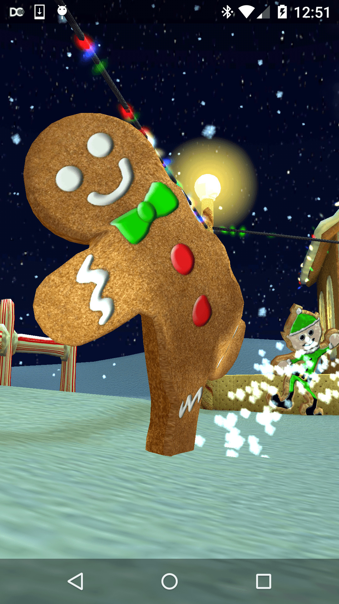 1080x1920 Christmas Cookie Village 3D Live Wallpaper Download