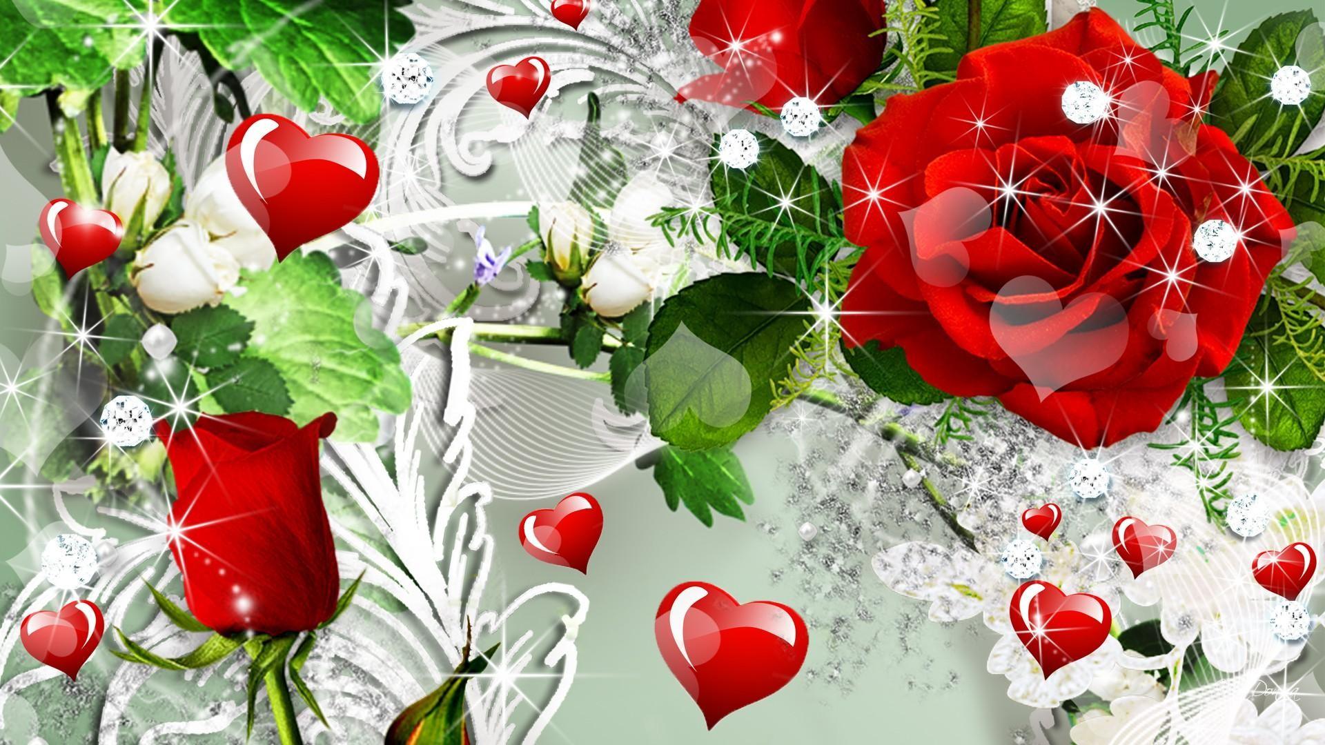 Картинки на рабочий стол розы анимация