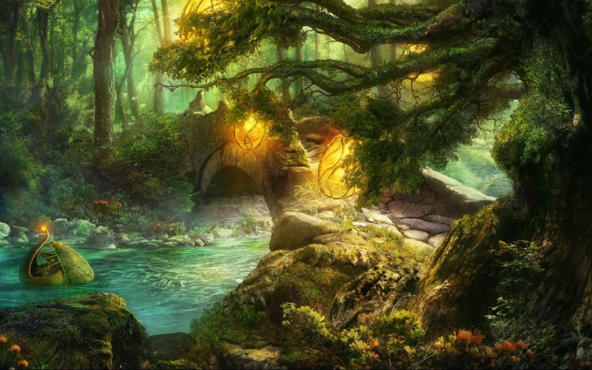 enchanted fairy forest - HD1920×1200