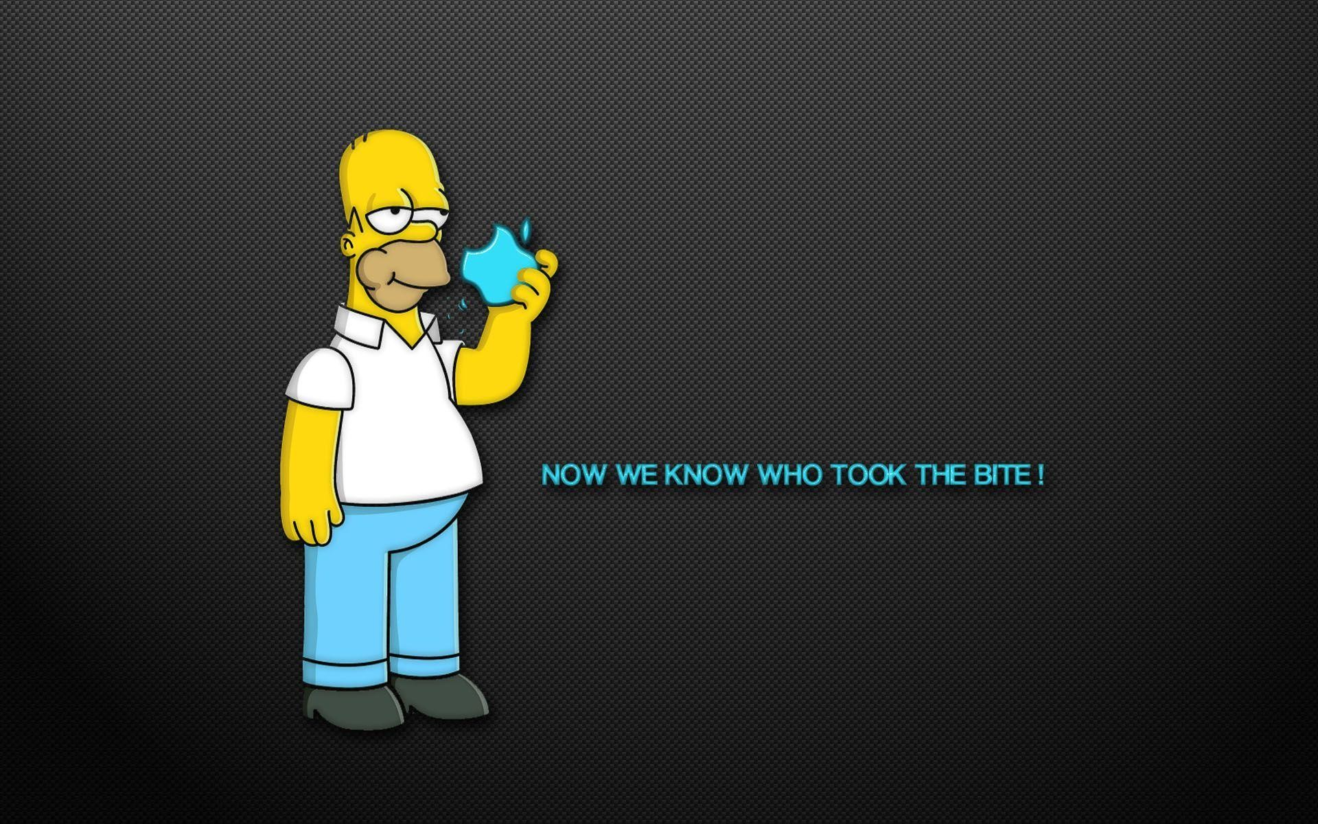 Homer Simpson Mac Wallpaper ·â'