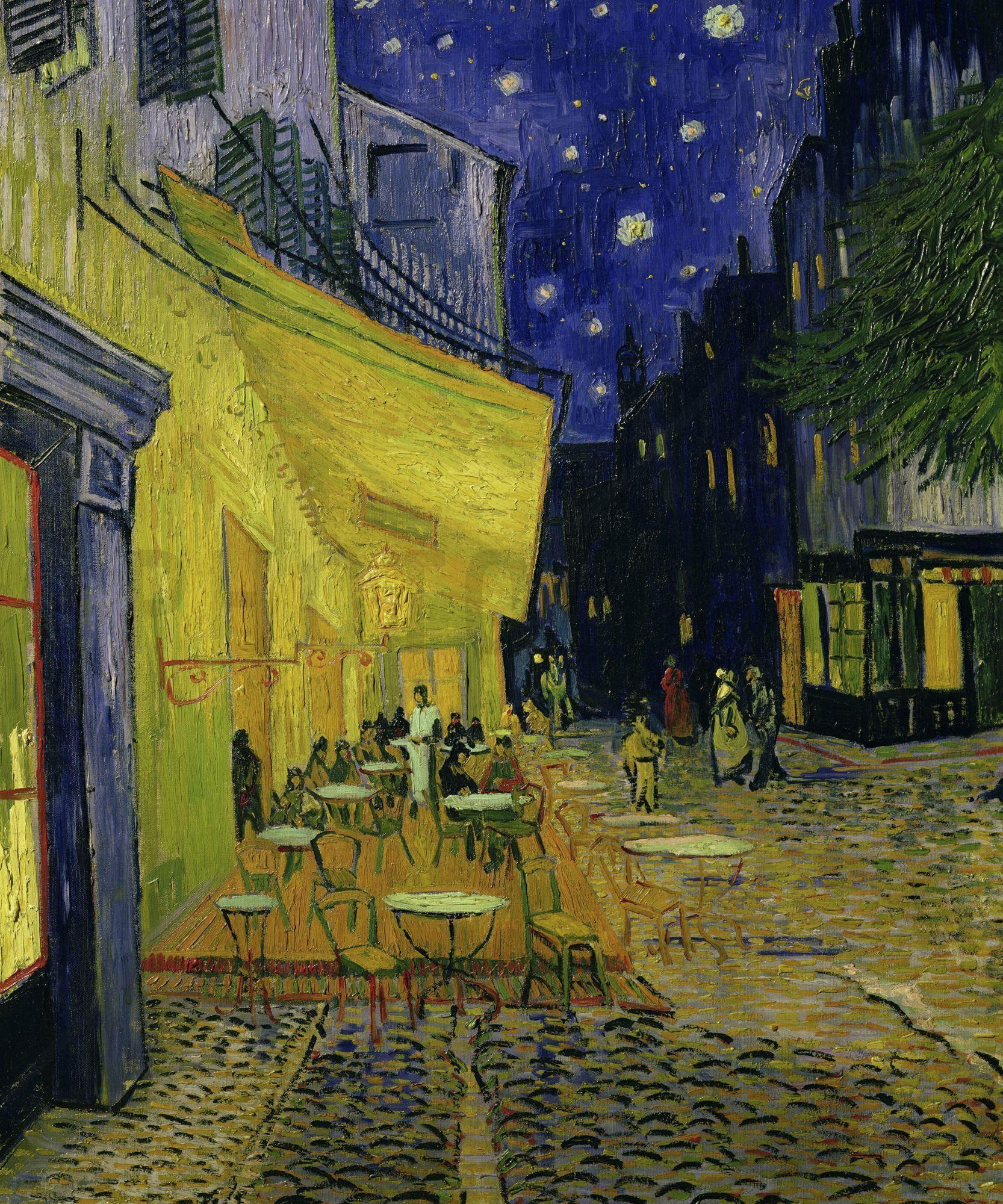 Van Gogh Wallpaper: Van Gogh Cafe Terrace At Night Wallpapers ·①