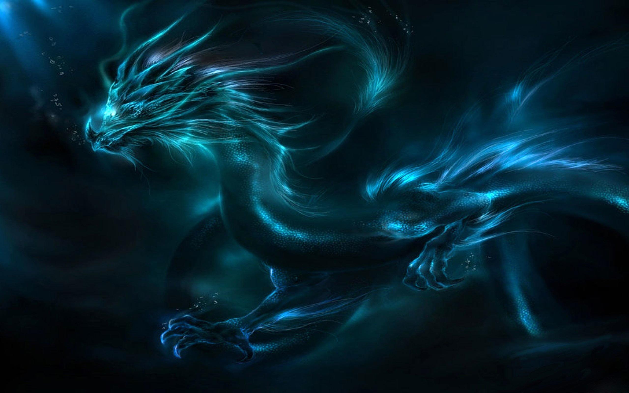 Blue Dragon Wallpaper 1