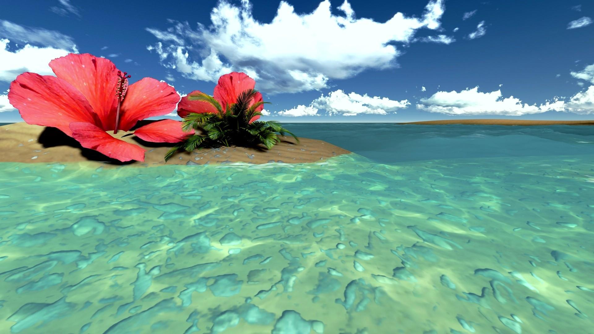 Hd Tropical Island Beach Paradise Wallpapers And Backgrounds: Tropical Wallpaper Backgrounds ·① WallpaperTag