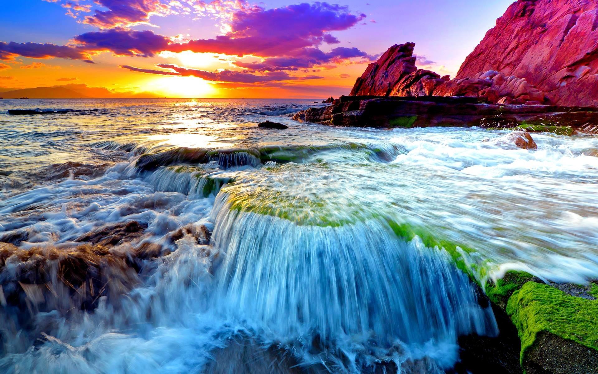 Nature Scene Waterfall Hd Wallpapers One plus