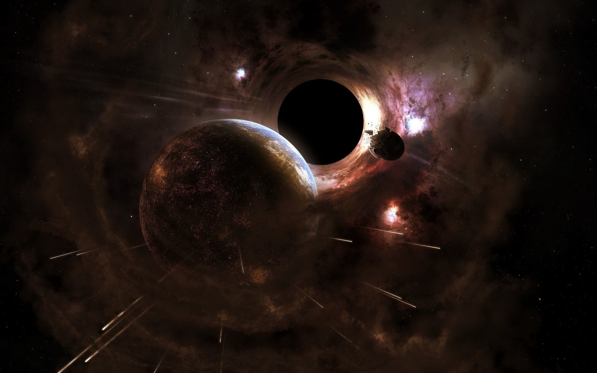 Black Hole Background Wallpapertag