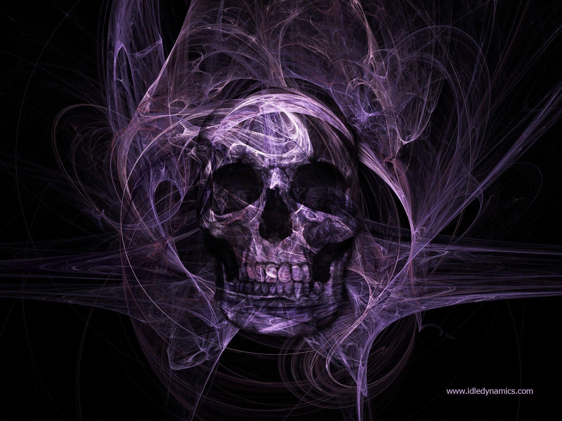 Skull 3d Wallpaper: 3D Skull Wallpaper ·①
