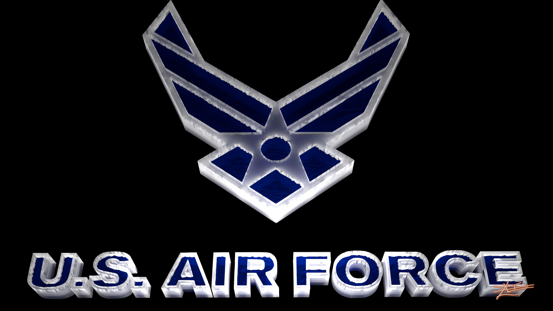 Group Of Air Force Logo Wallpaper 1920x1080