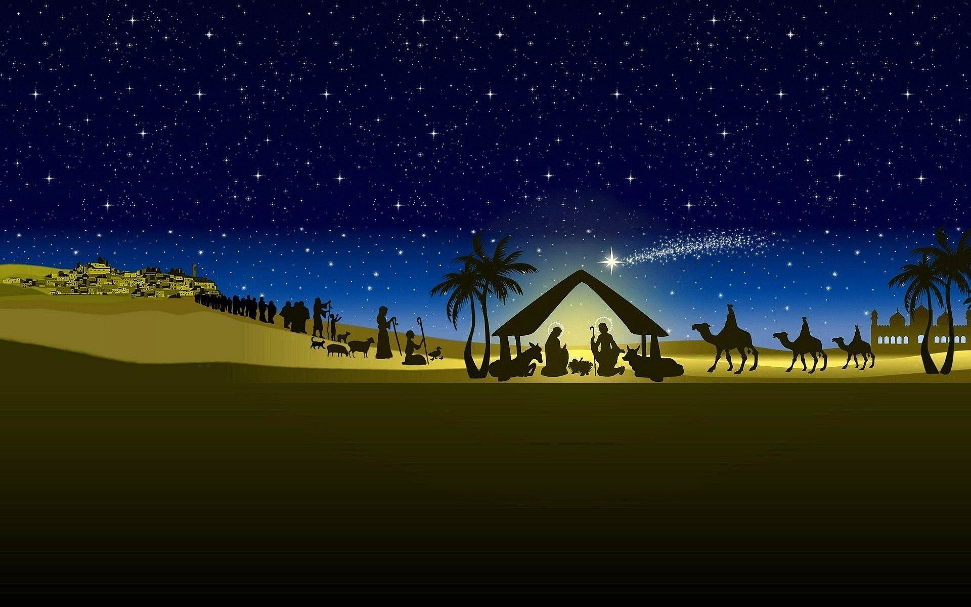 Christmas Nativity Backgrounds ·①