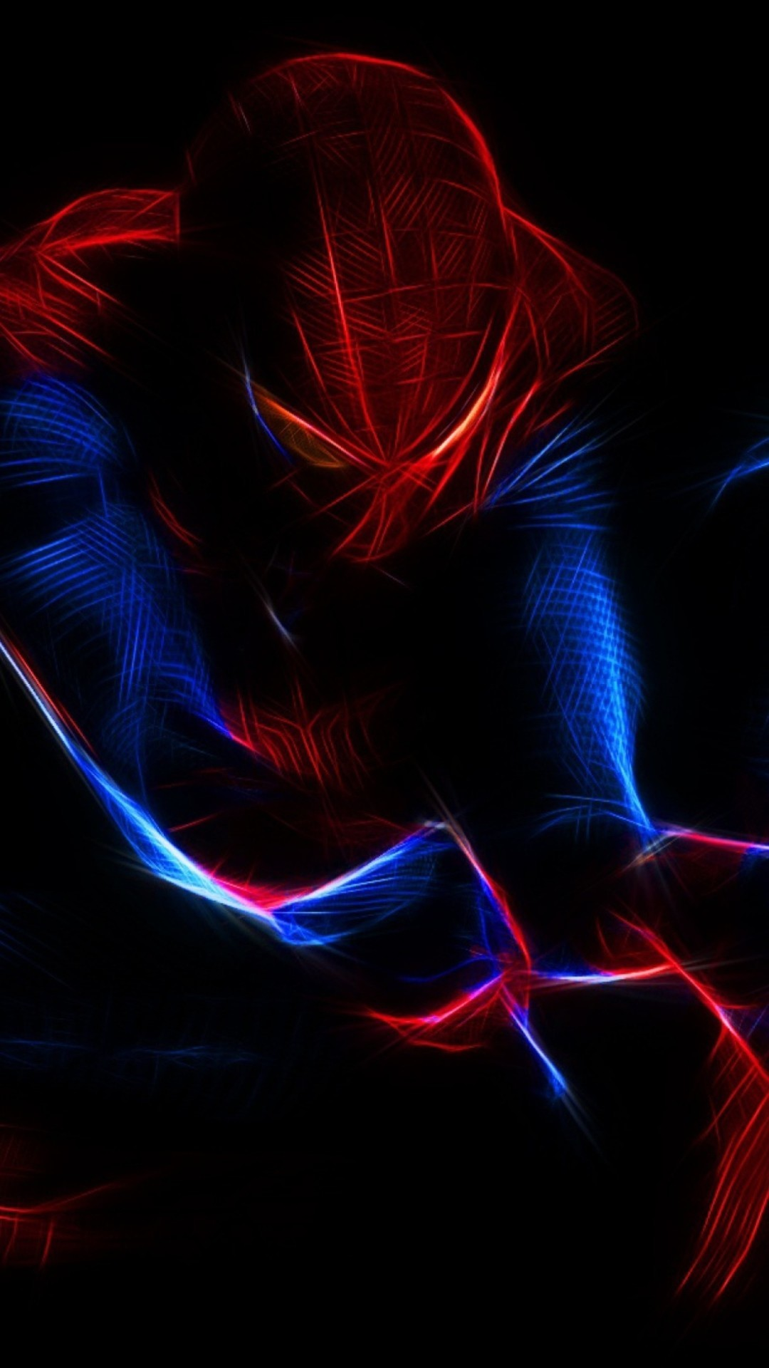 Spiderman Neon Red Wallpaper ·① WallpaperTag