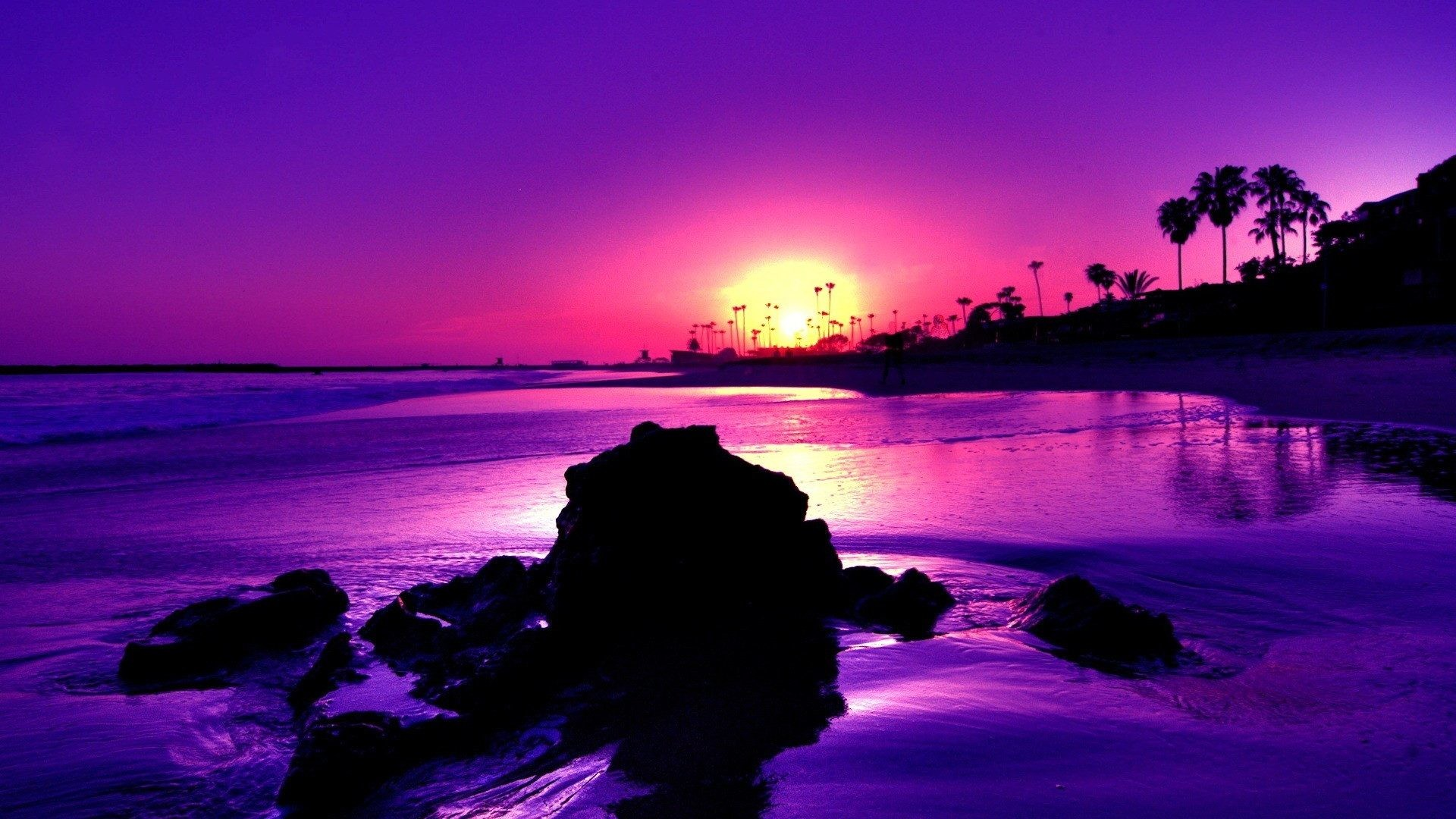 Cool purple background 1920x1080 colours colorful black cool purple gulls yellow sunsets sunrise landscape beautiful shadows sand scenic reflections blue scene sky birds foam voltagebd Image collections