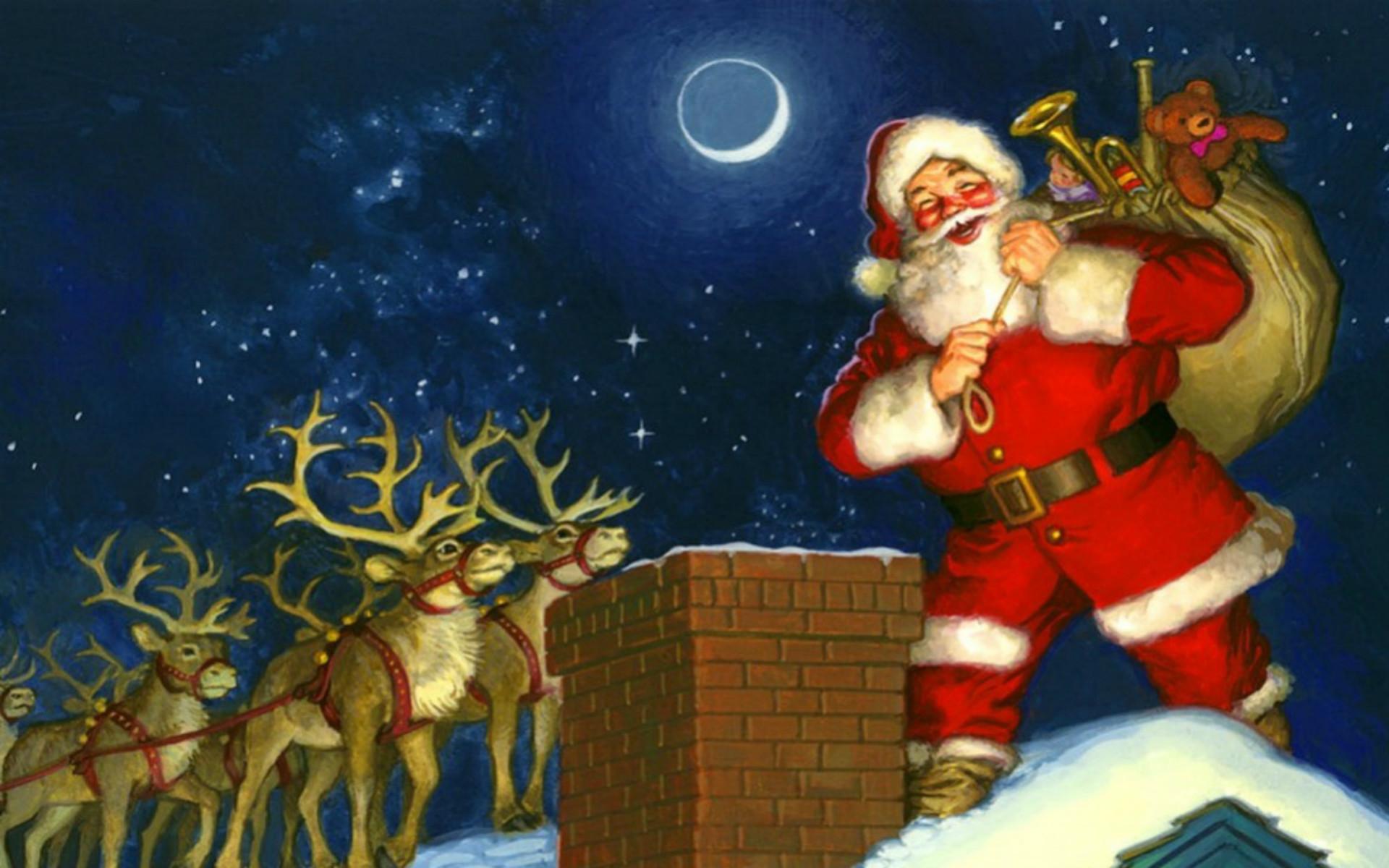 Santa Desktop Wallpaper ·① WallpaperTag