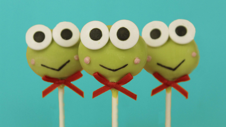Cute Cake Pops Keroppi