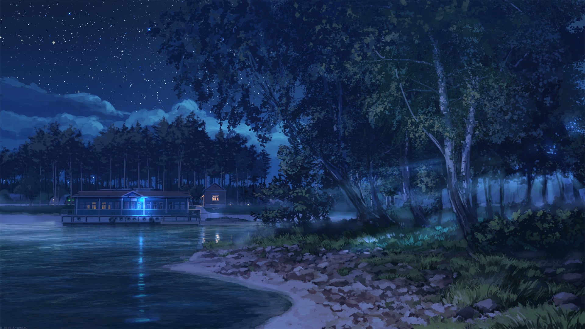 dark anime background scenery download free stunning wallpapers