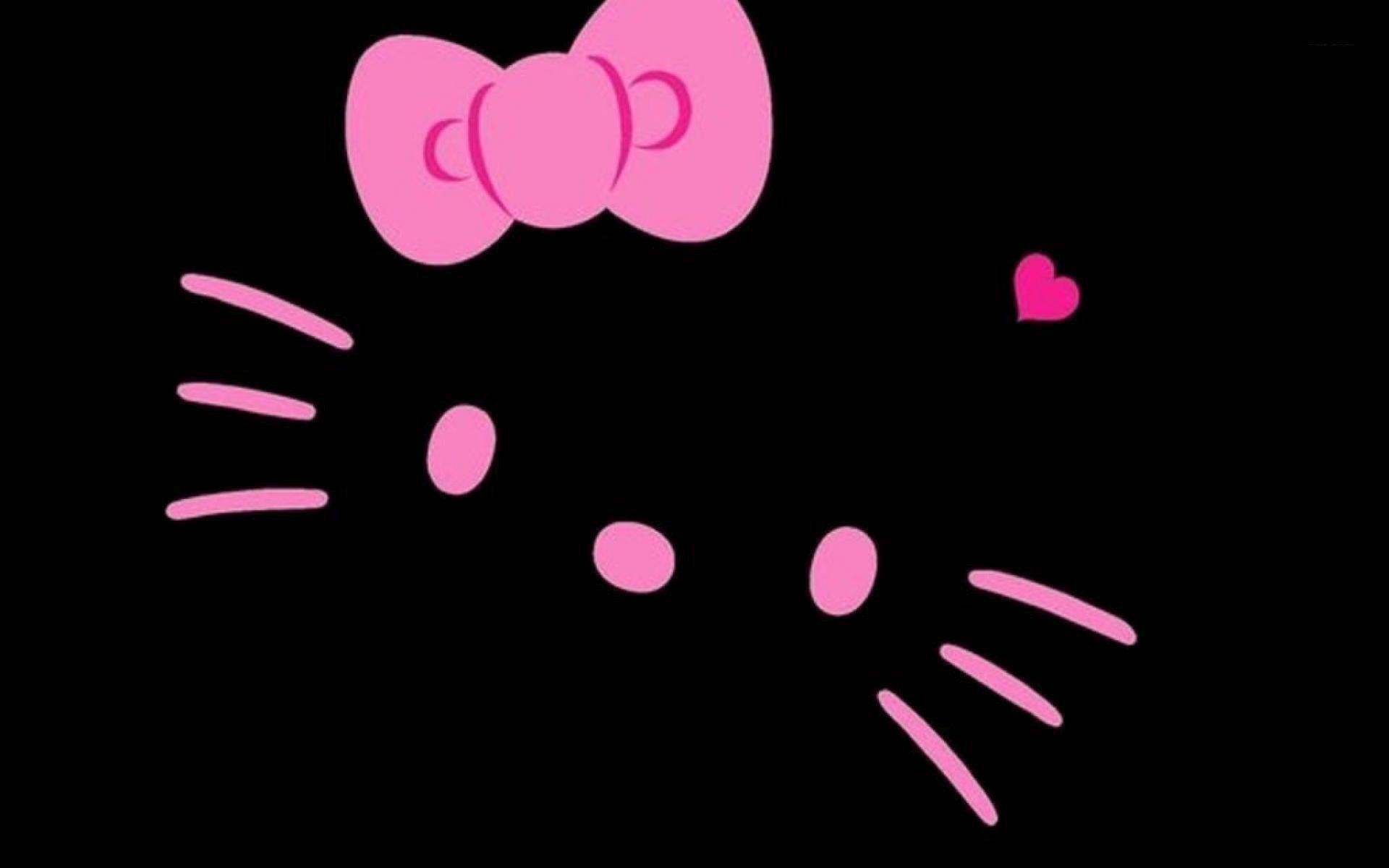 Pink And Black Hello Kitty