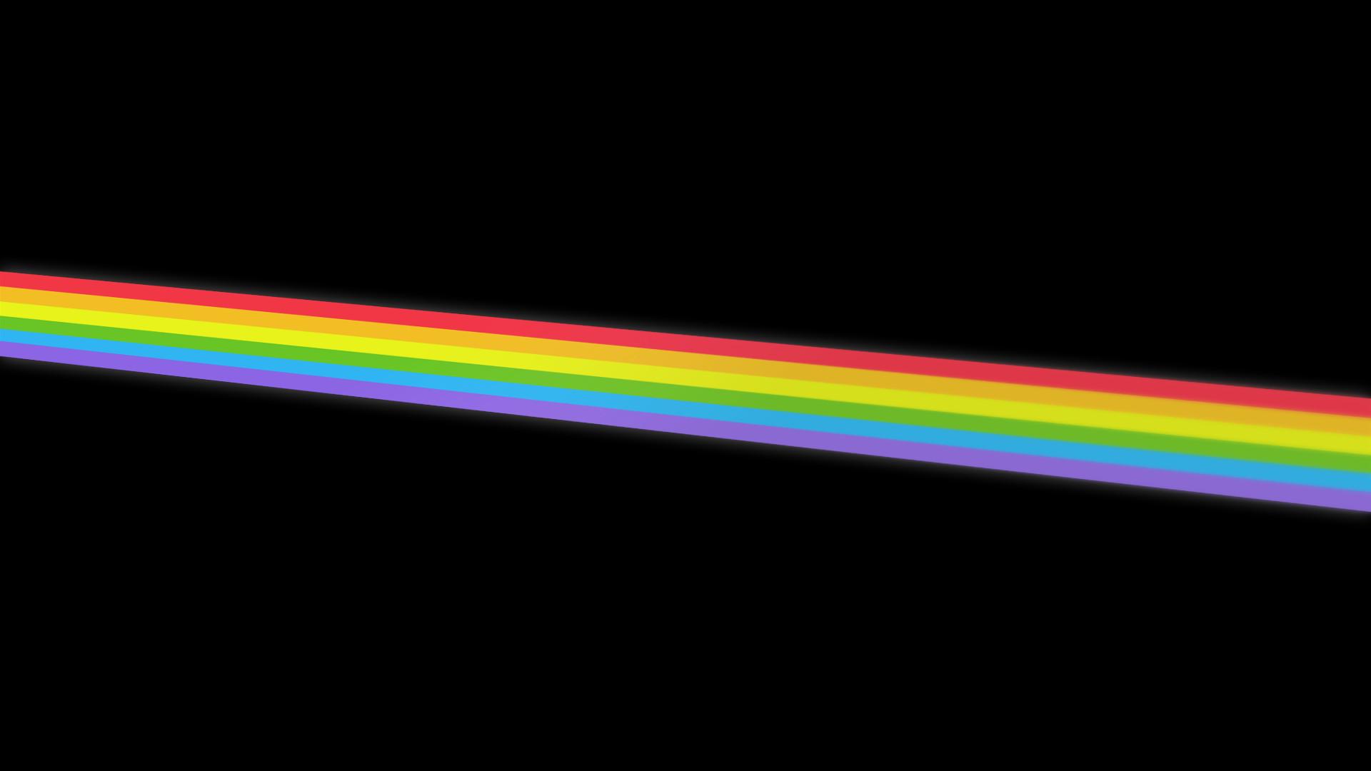 картинки радужные полосы в черном фоне