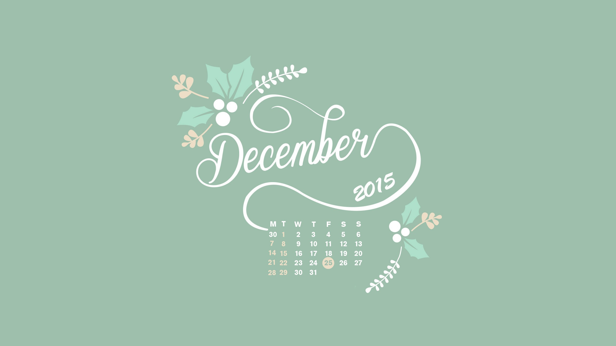 desktop wallpapers calendar december 2018 ·①