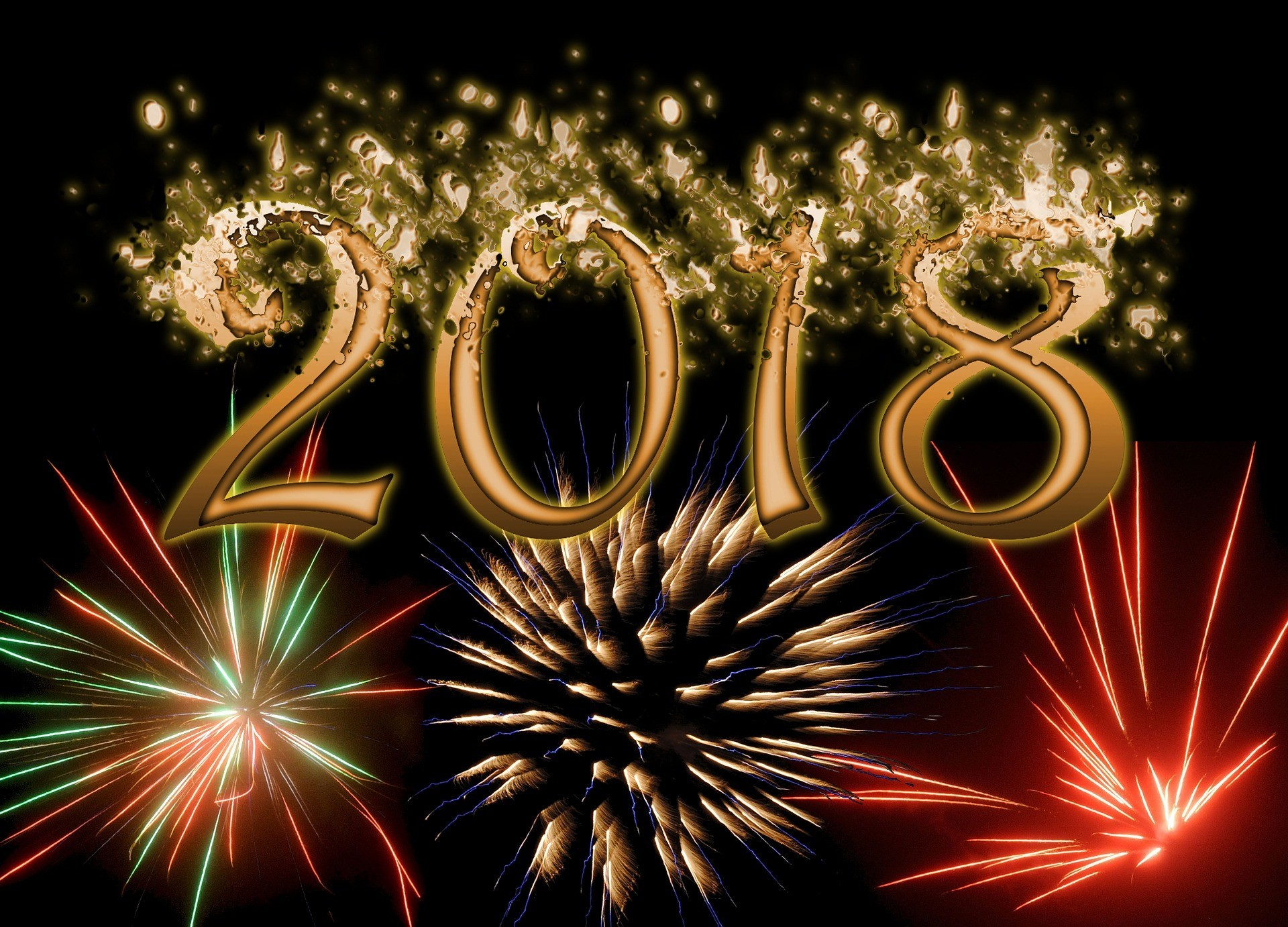 wallpaper 2018 can also be used as happy new year greeting download tagsfull