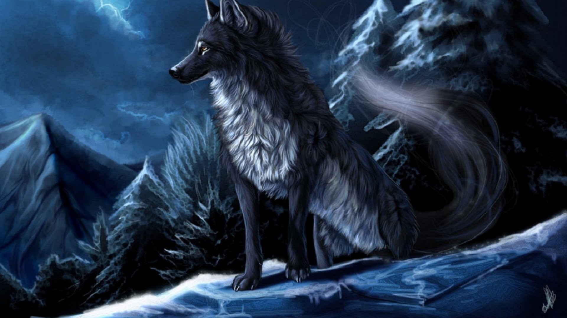 Image Result For Anime Wolves Wallpaper