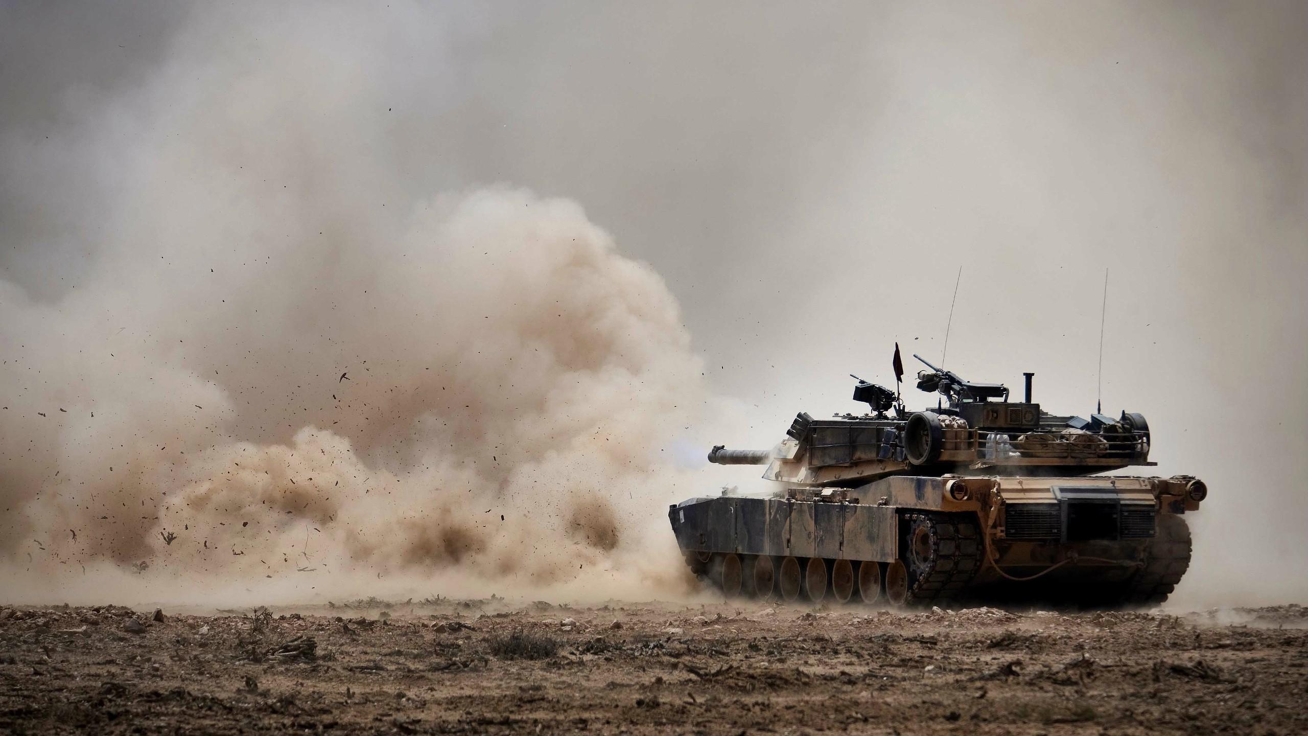 2560x1440 military, Tank, M1 Abrams, USMC Wallpaper HD