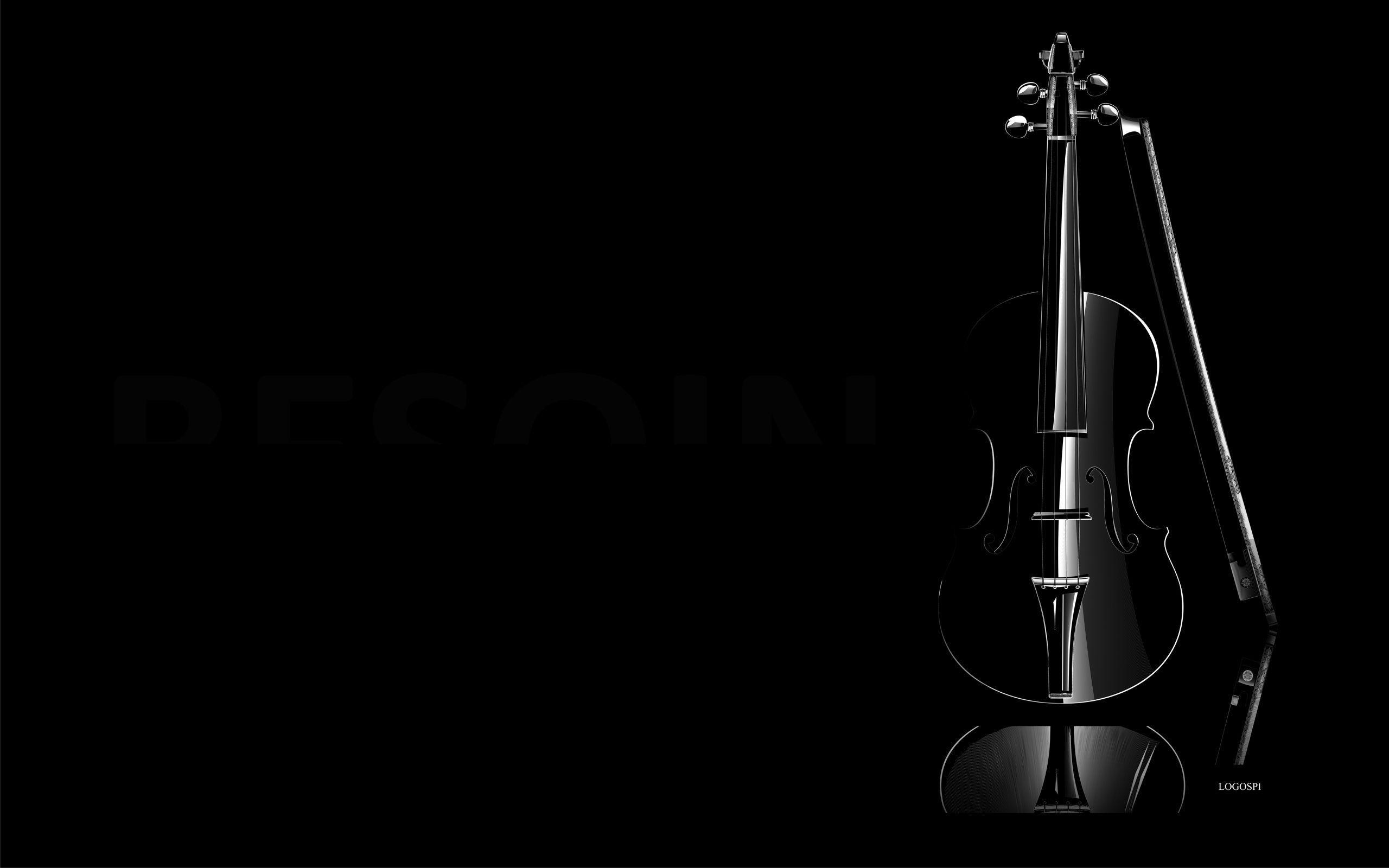 2560x1600 Black Art Wallpapers Violin Music Creative