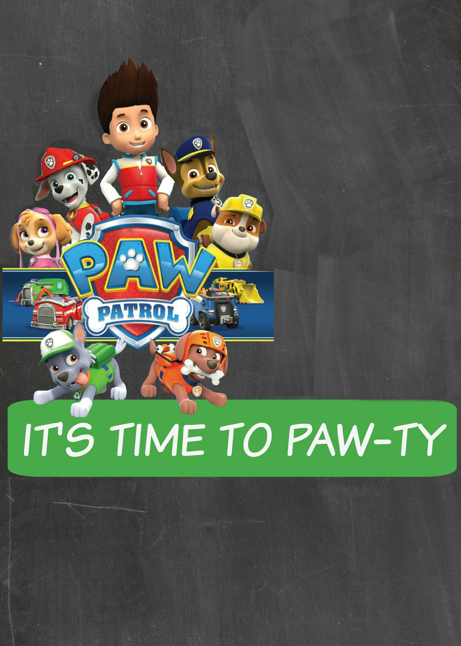 Paw patrol background download free wallpapers for for Paw patrol invitation template free