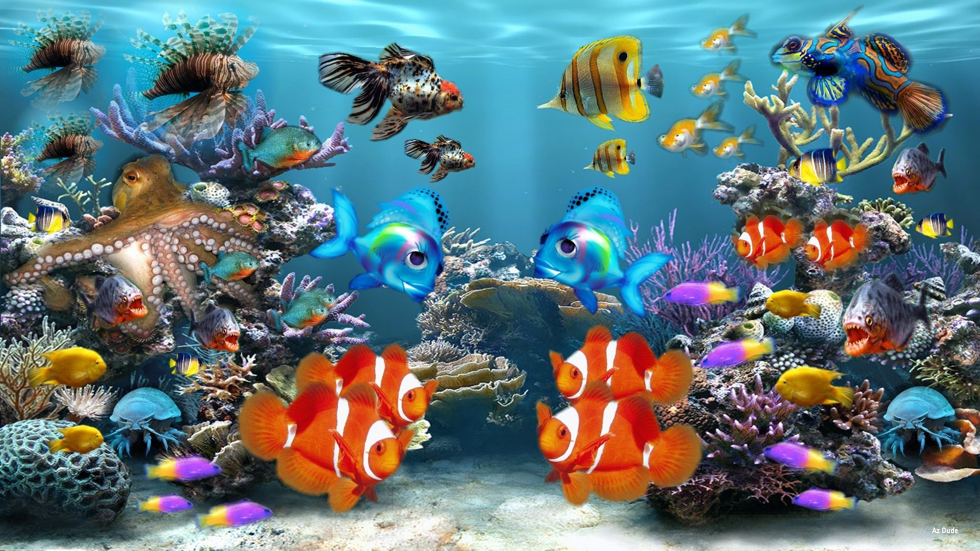 Ipad Iphone Hd Wallpaper Free: Aquarium Background ·① Download Free Wallpapers For