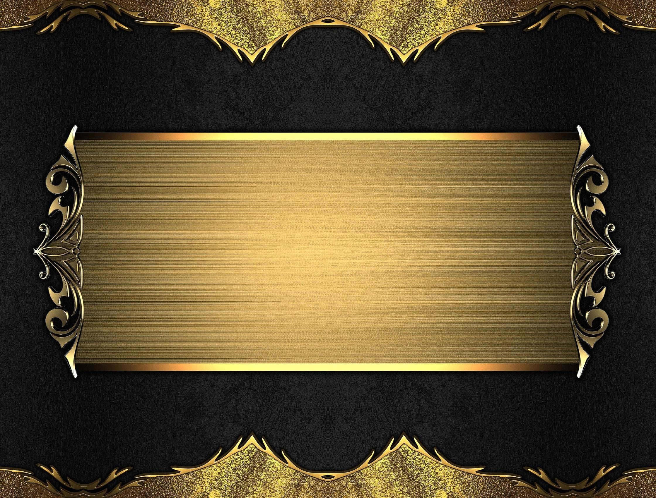 Gold And Black Backgrounds 183 ①