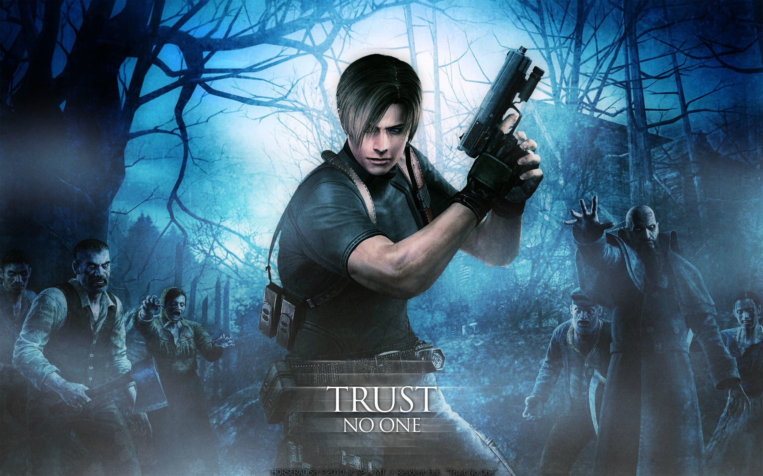 wallpaper resident evil damnation leon