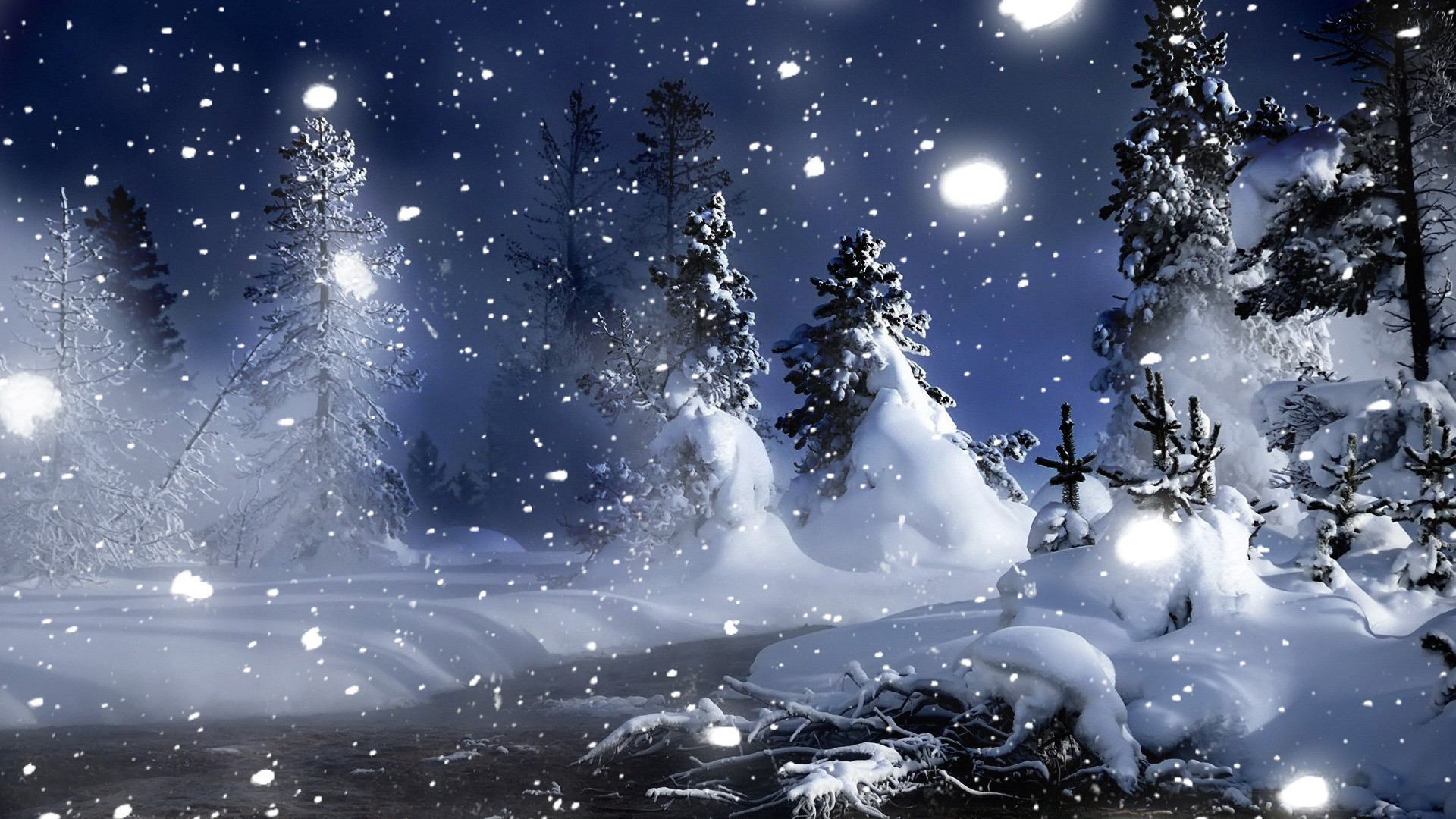 Christmas Winter Wallpapers: Snow Desktop Backgrounds ·①