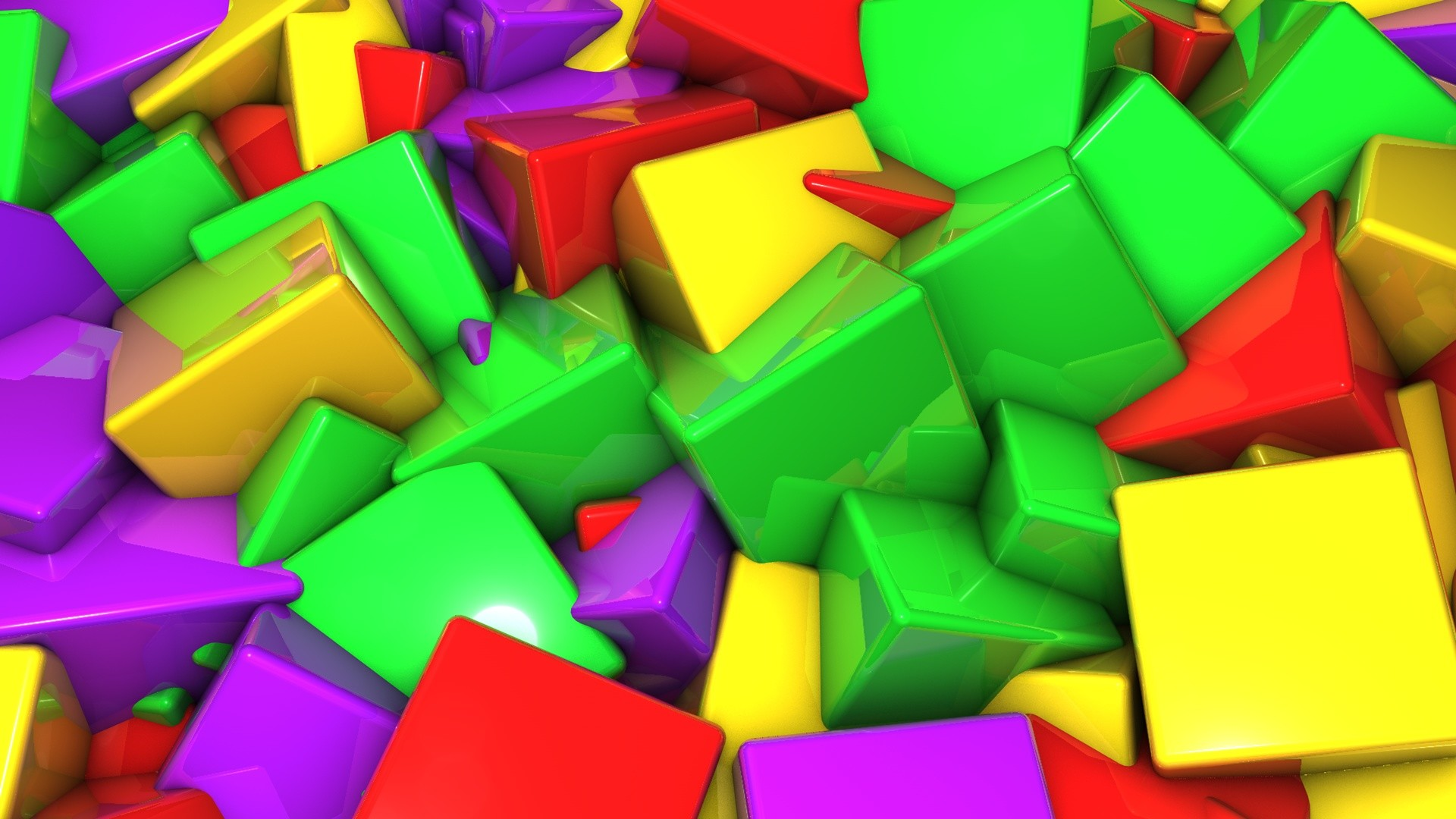 Colorful 3D Wallpaper 1