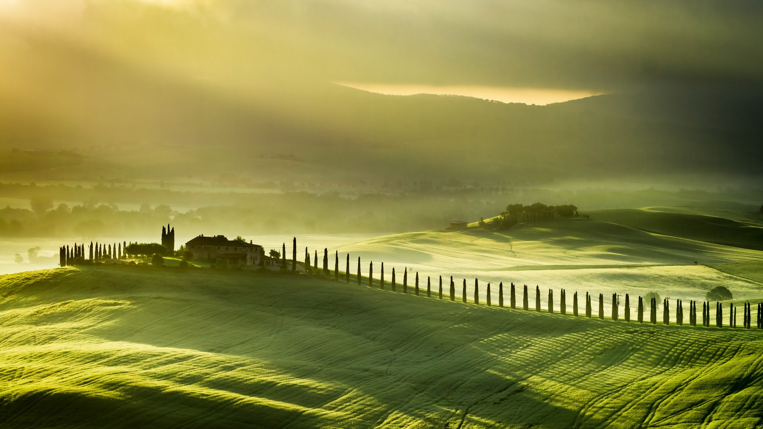 Farm background download free stunning full hd backgrounds for 2560x1440 italy green farm landscape hills widescreen high resolution wallpaper voltagebd Gallery