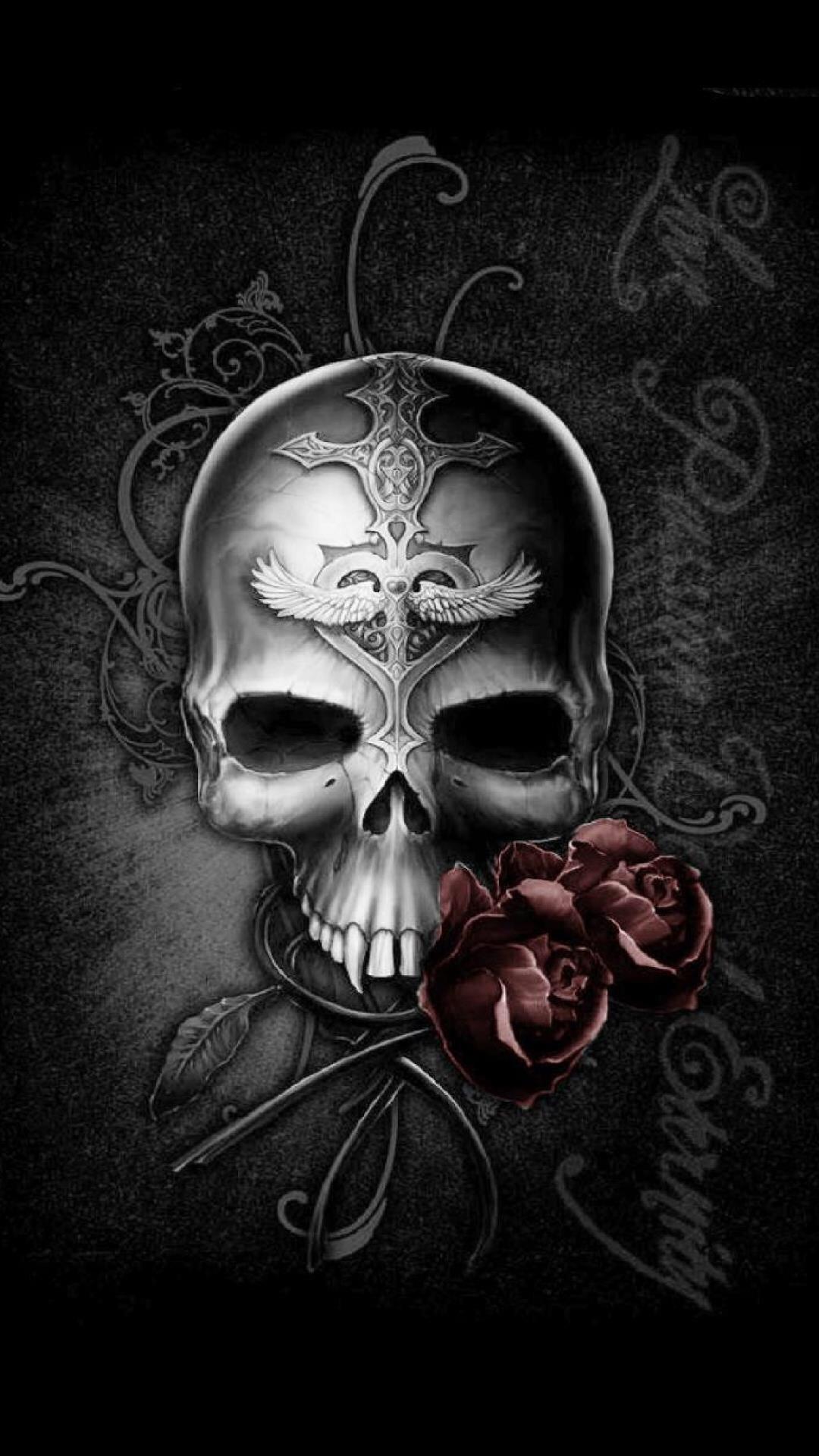 skull wallpaper for android ·①