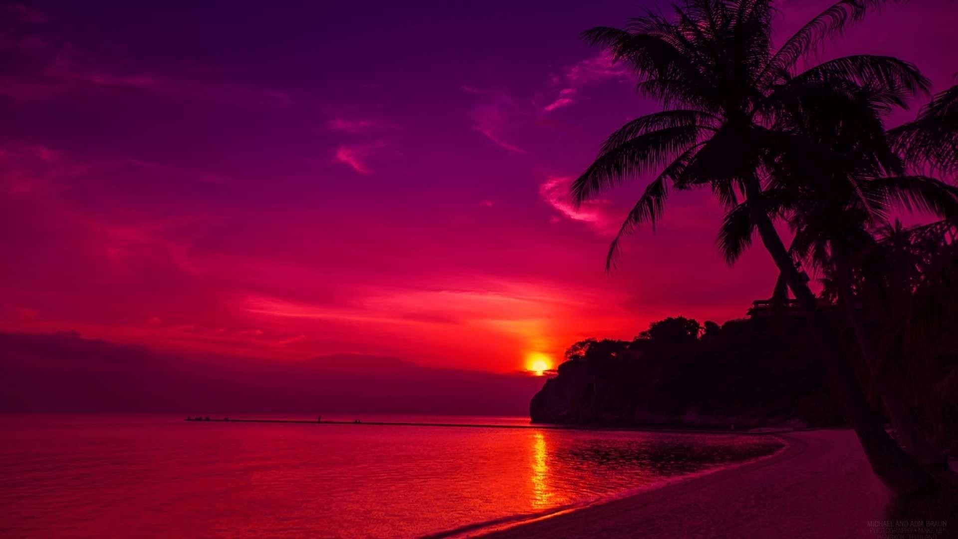 Tropical Island Beach Ambience Sound: Hawaii Sunset Wallpaper ·① WallpaperTag