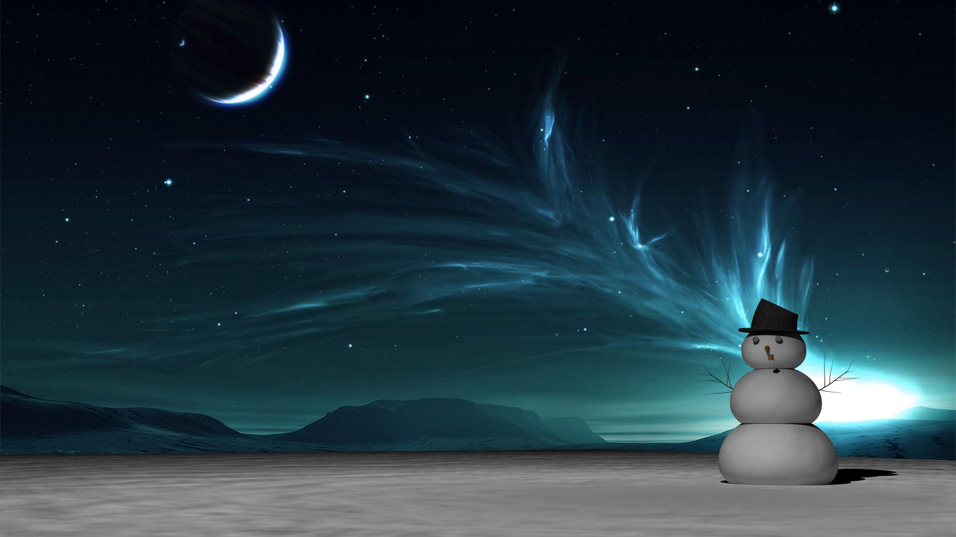 Snowman Desktop Wallpaper 183 '�